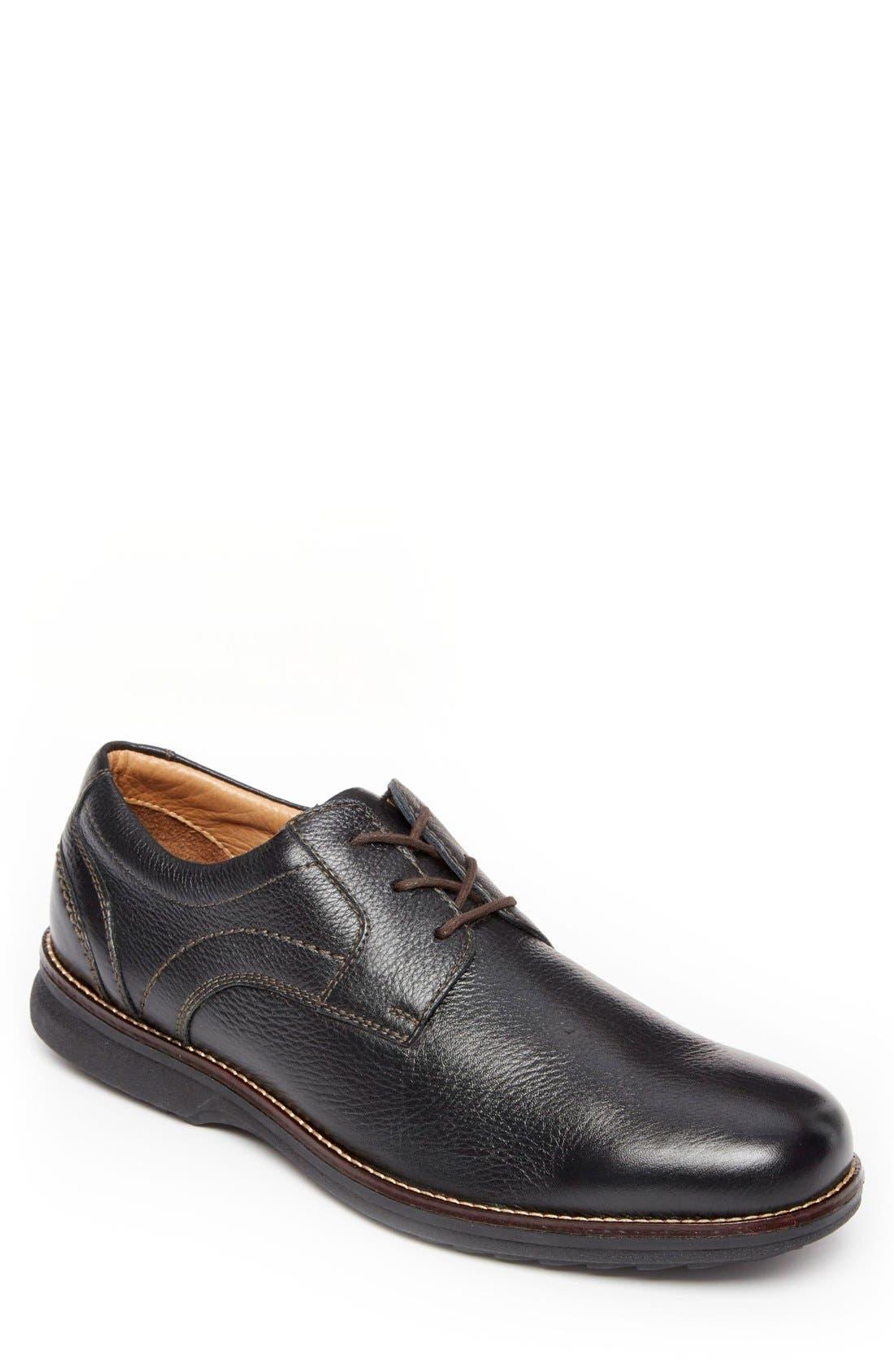 'Premium Class' Plain Toe Derby,                             Alternate thumbnail 3, color,                             001