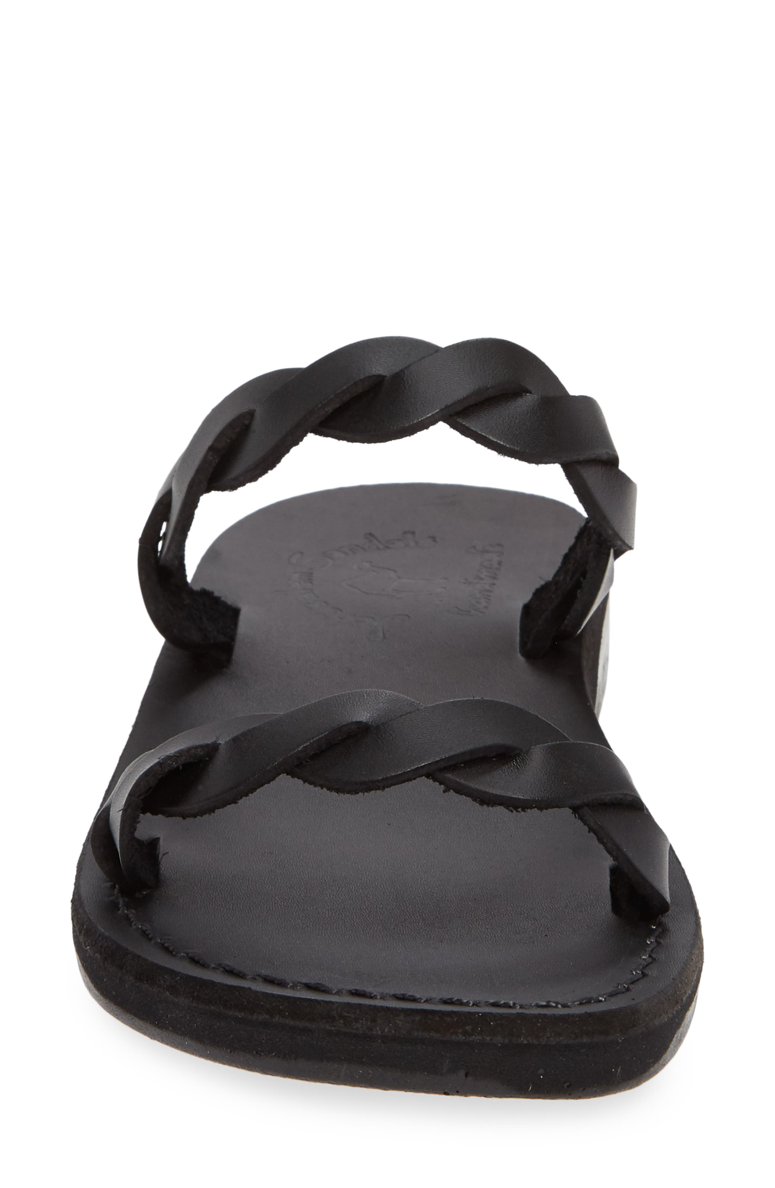 Joanna Sandal,                             Alternate thumbnail 4, color,                             BLACK LEATHER