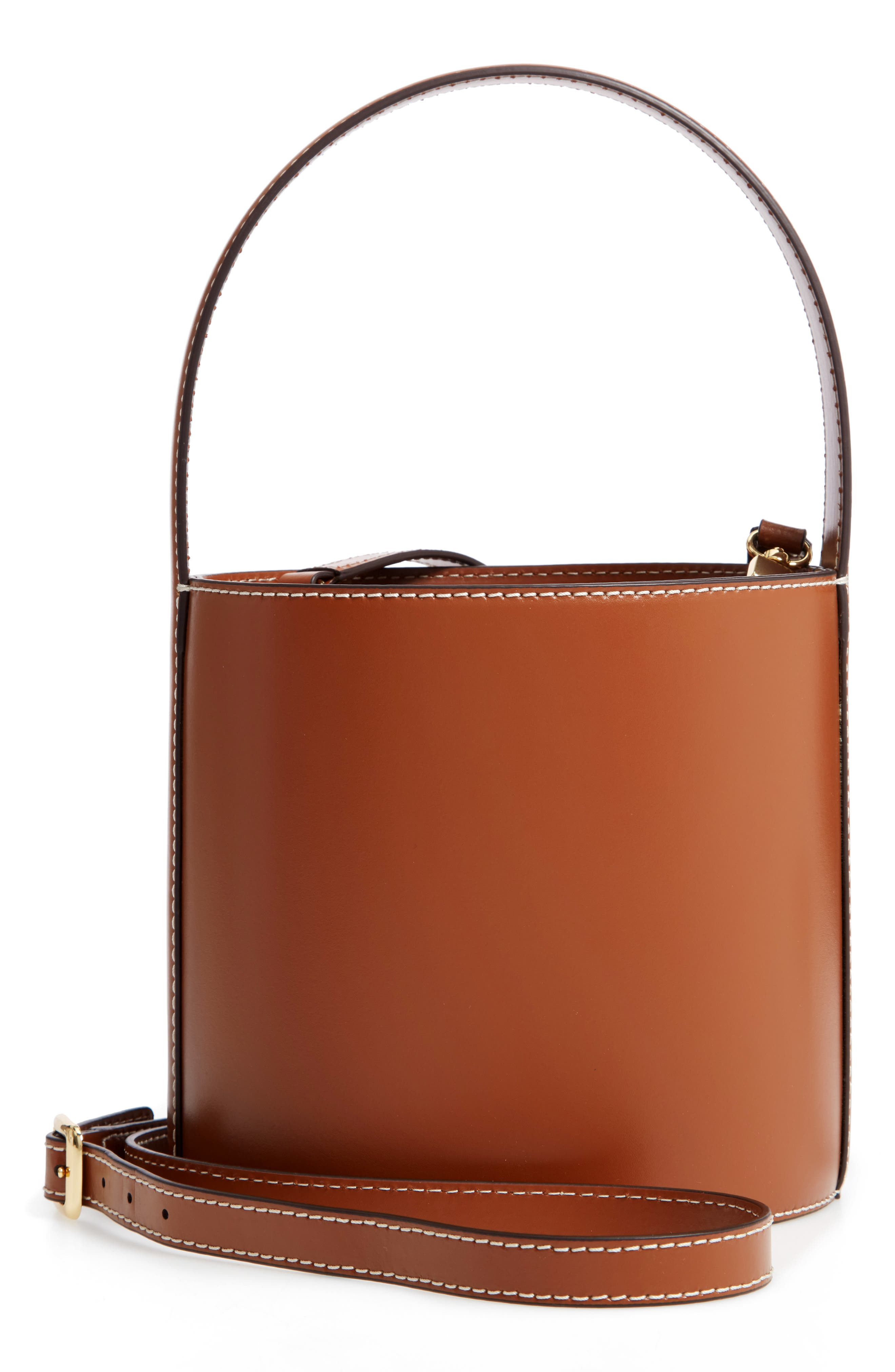 Bissett Leather Bucket Bag - Black in Noir