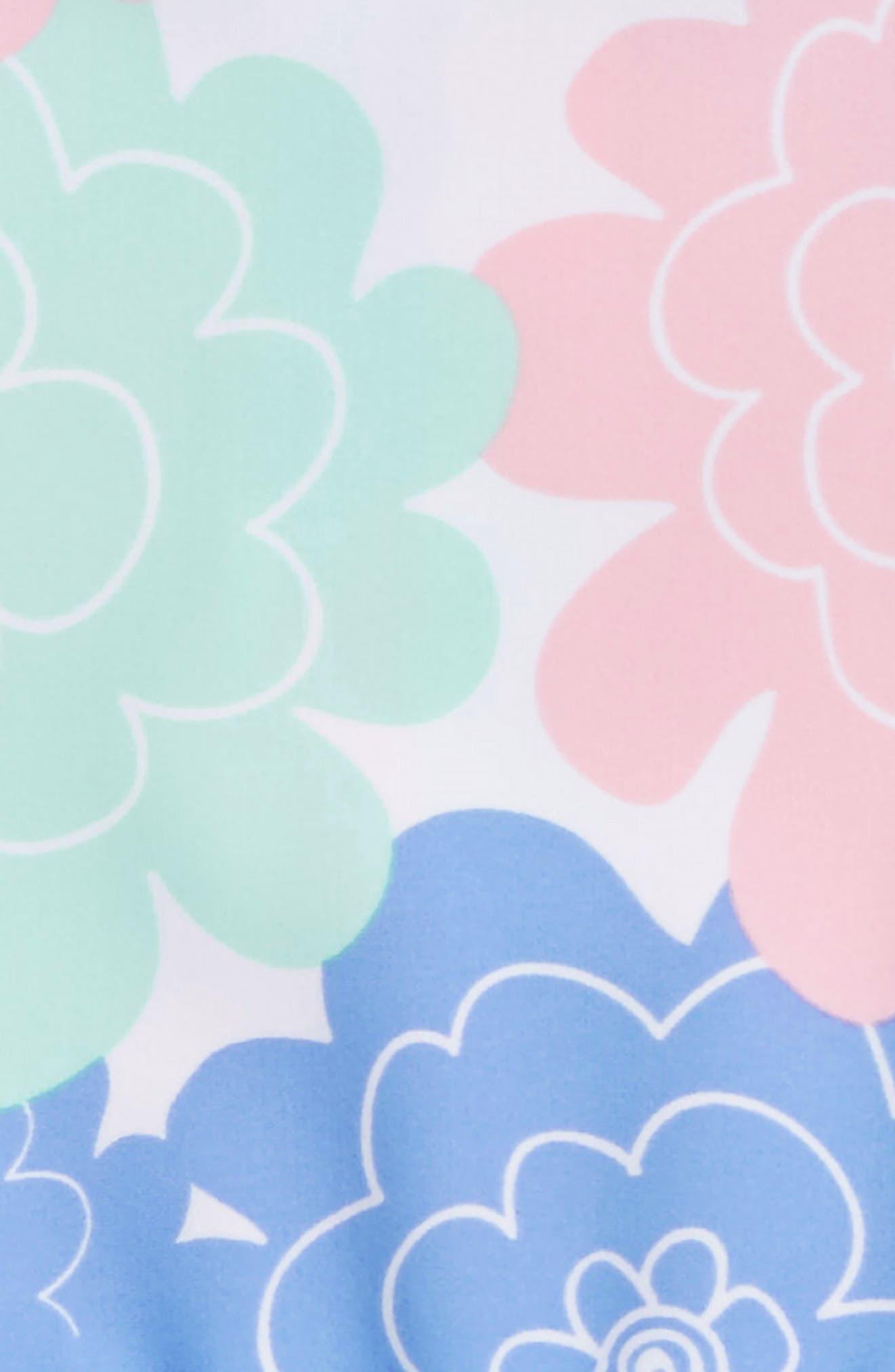 RUFFLEBUTTS,                             Pastel Petals Peplum One-Piece Swimsuit,                             Alternate thumbnail 3, color,                             180