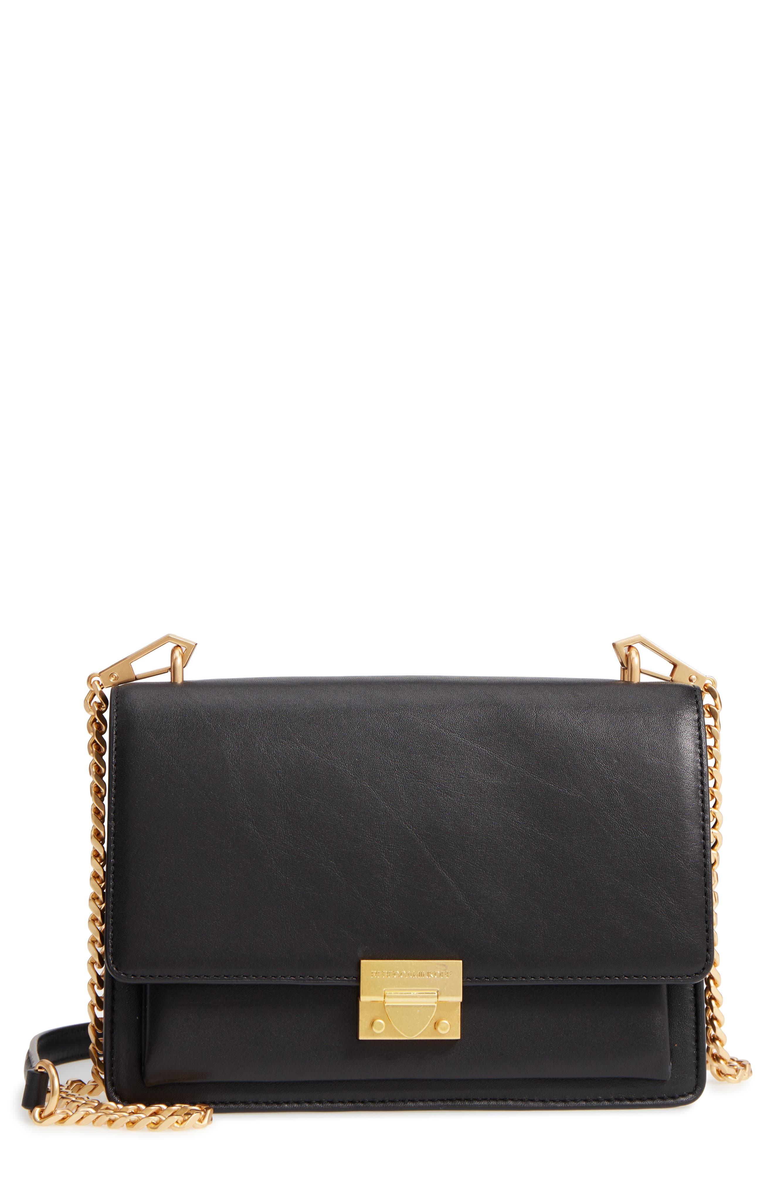 Medium Christy Leather Shoulder Bag,                         Main,                         color, 001