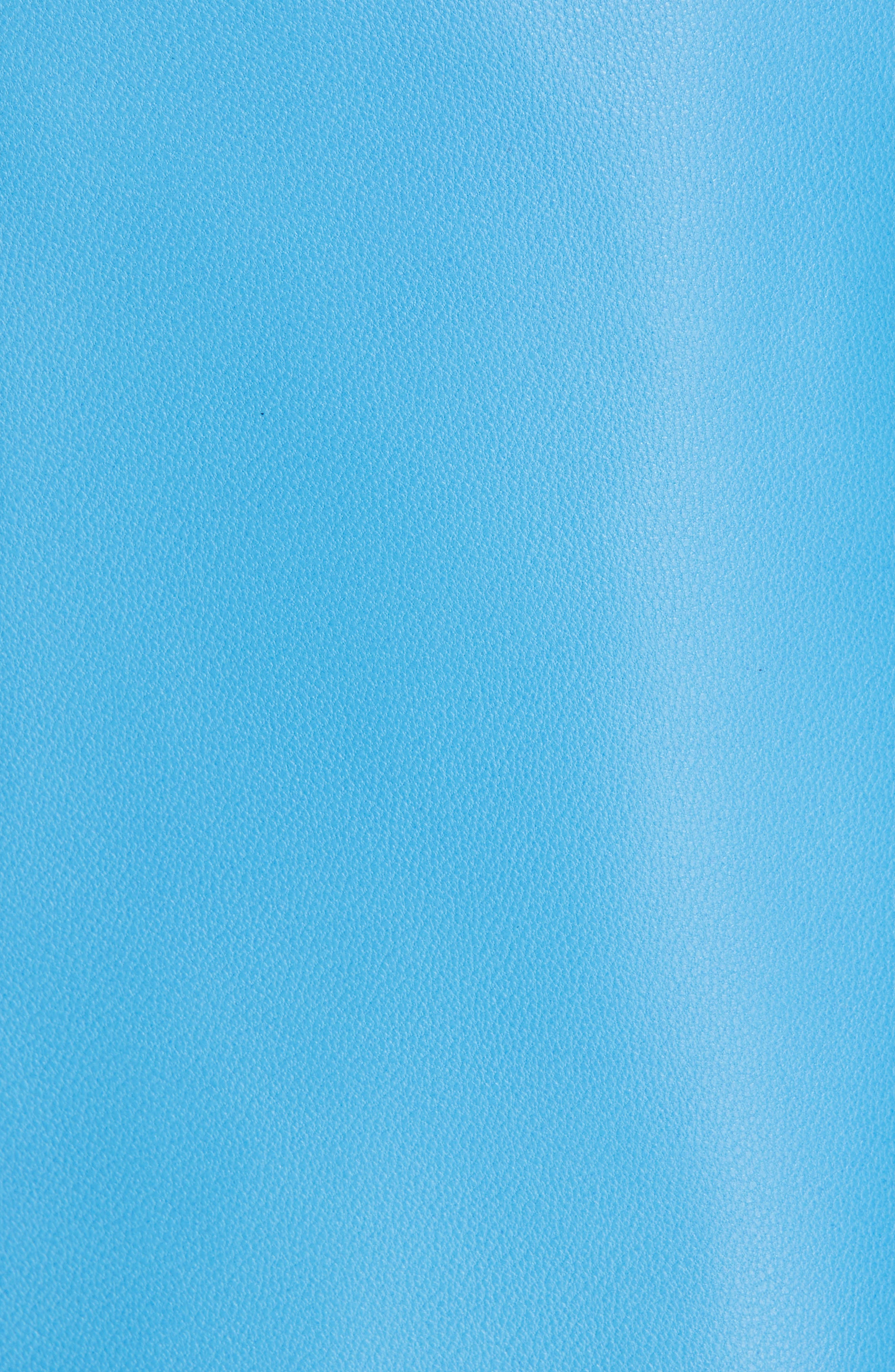 TIBI,                             Asymmetrical Drape Tissue Leather Skirt,                             Alternate thumbnail 5, color,                             OCEAN BLUE