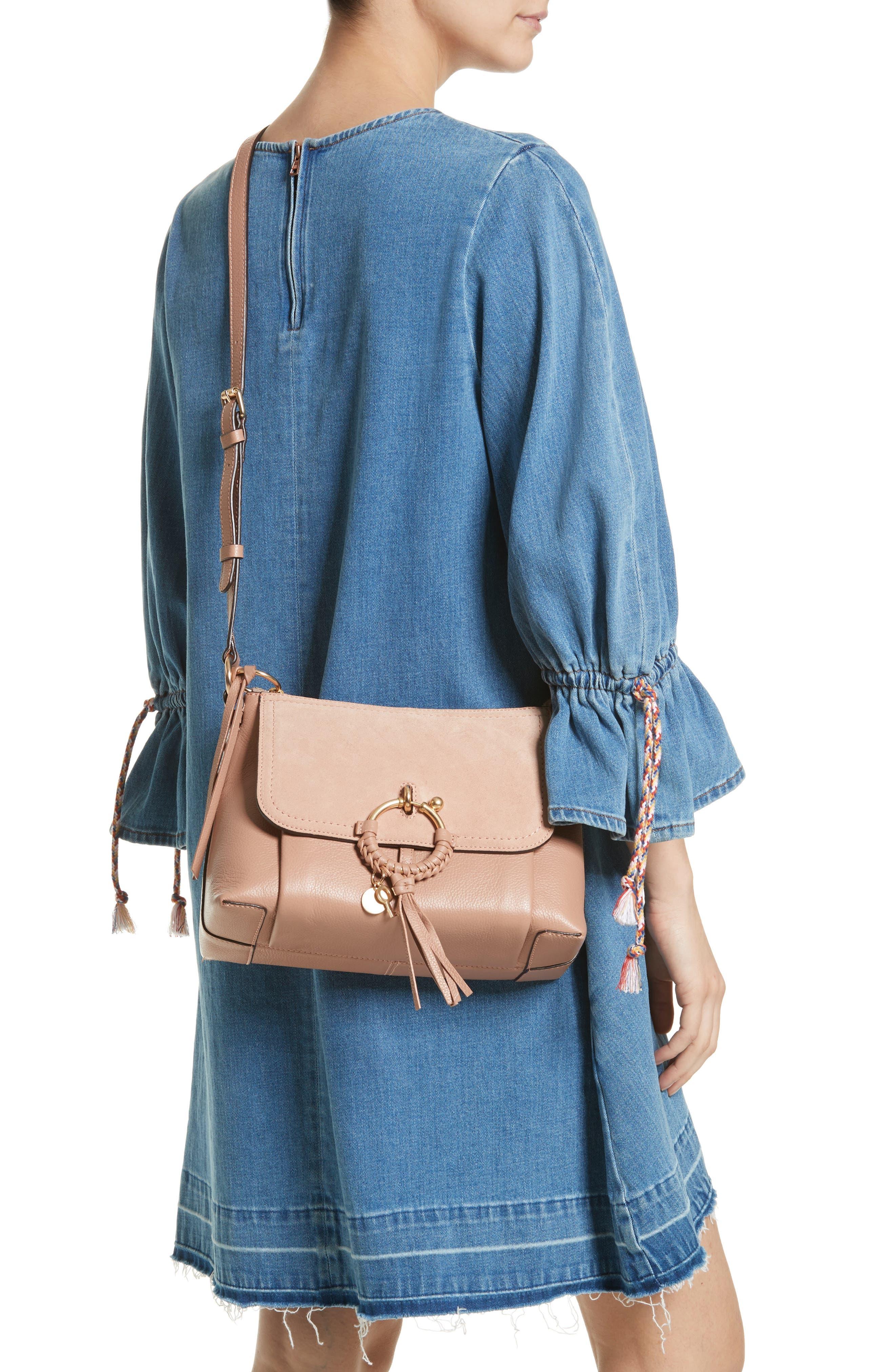 Small Joan Leather Shoulder Bag,                             Alternate thumbnail 2, color,                             650
