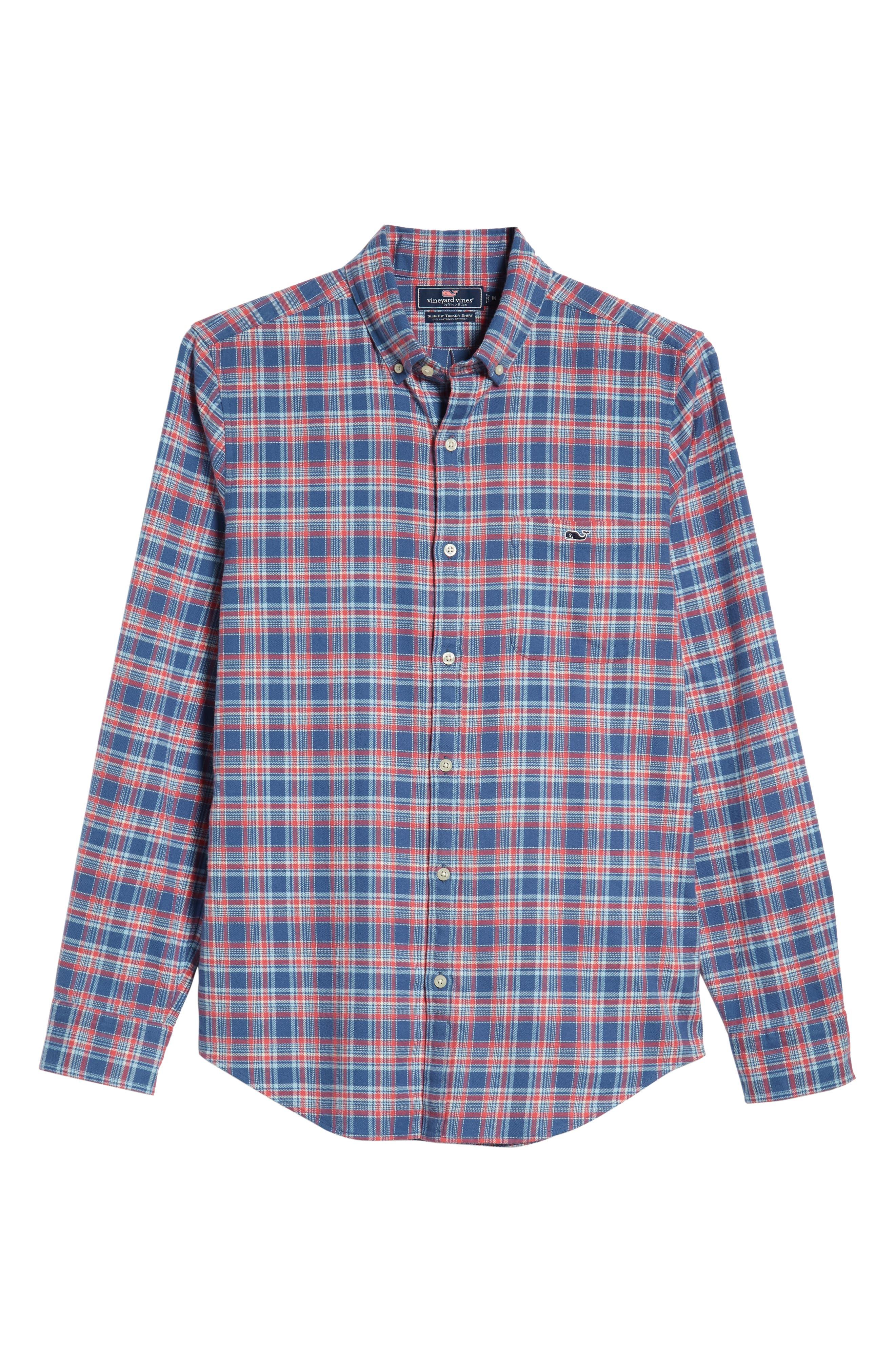 VINEYARD VINES,                             Lockwood Regular Fit Plaid Flannel Shirt,                             Alternate thumbnail 5, color,                             463