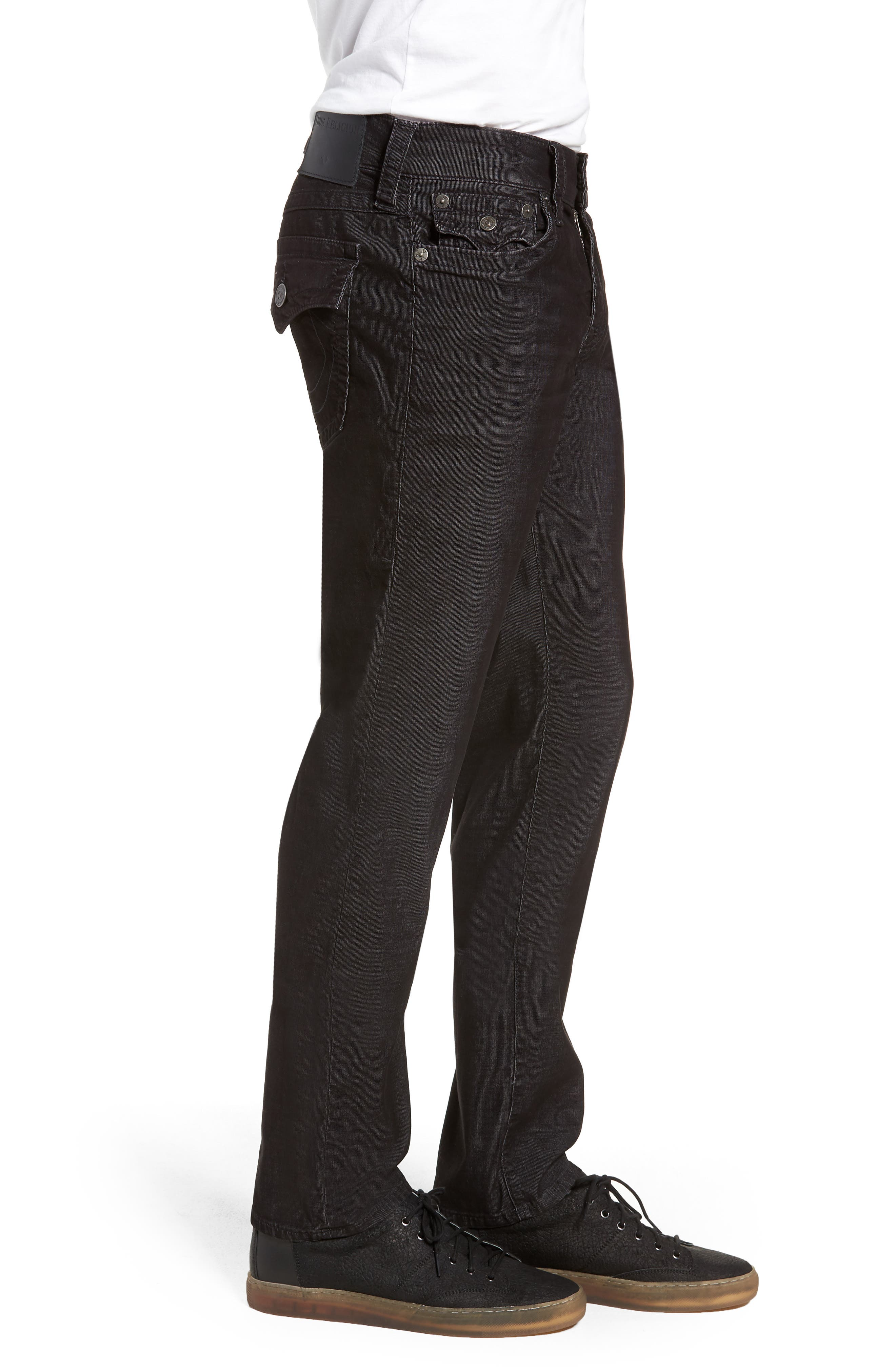 Geno Slim Straight Leg Jeans,                             Alternate thumbnail 3, color,                             BLACK