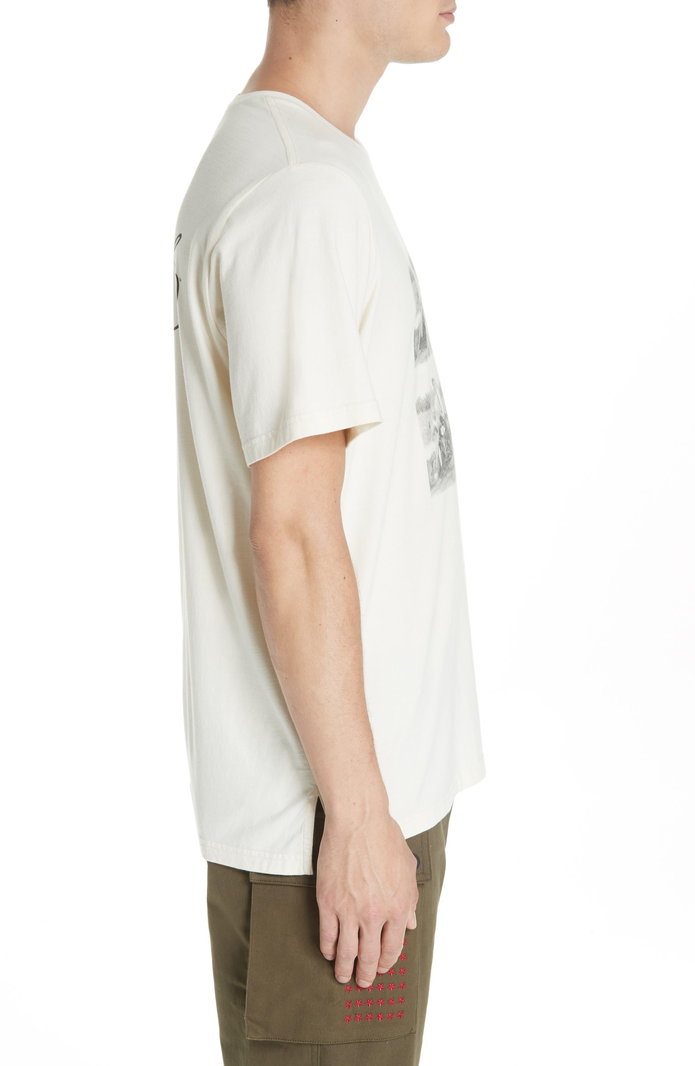 Elvis Graphic T-Shirt,                             Alternate thumbnail 3, color,                             OFF WHITE