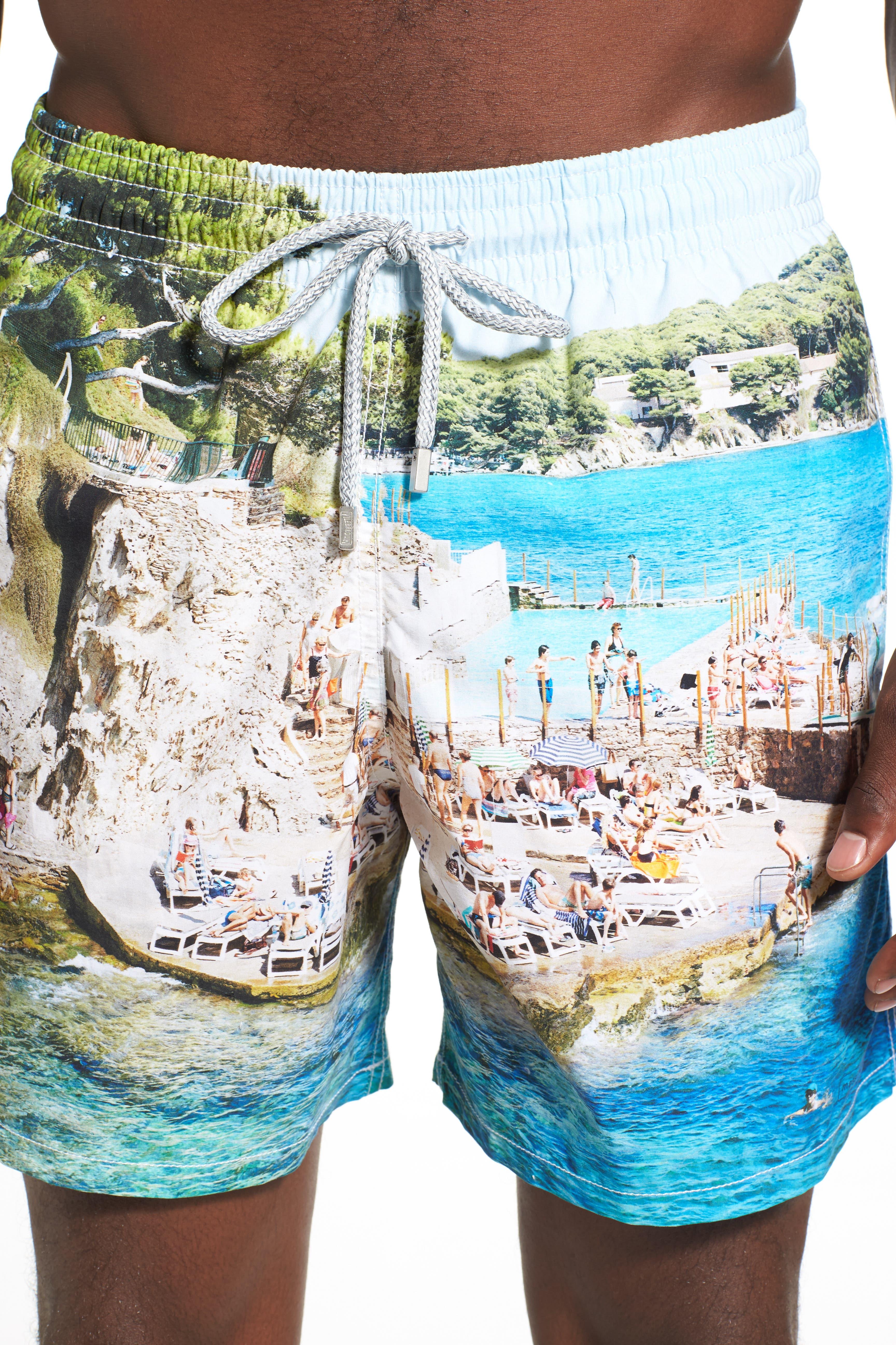 'Massimo Vitali Moorea' Swim Trunks,                             Alternate thumbnail 6, color,                             400