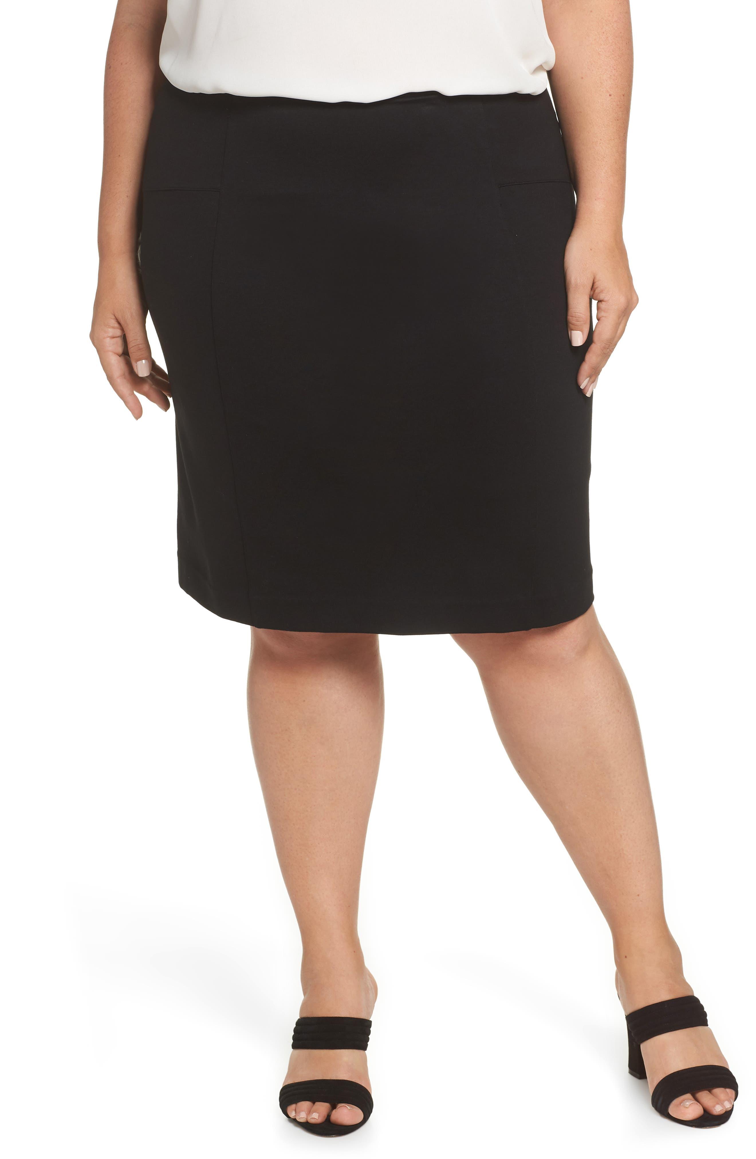 Perfect High Waist Skirt,                             Main thumbnail 1, color,                             BLACK