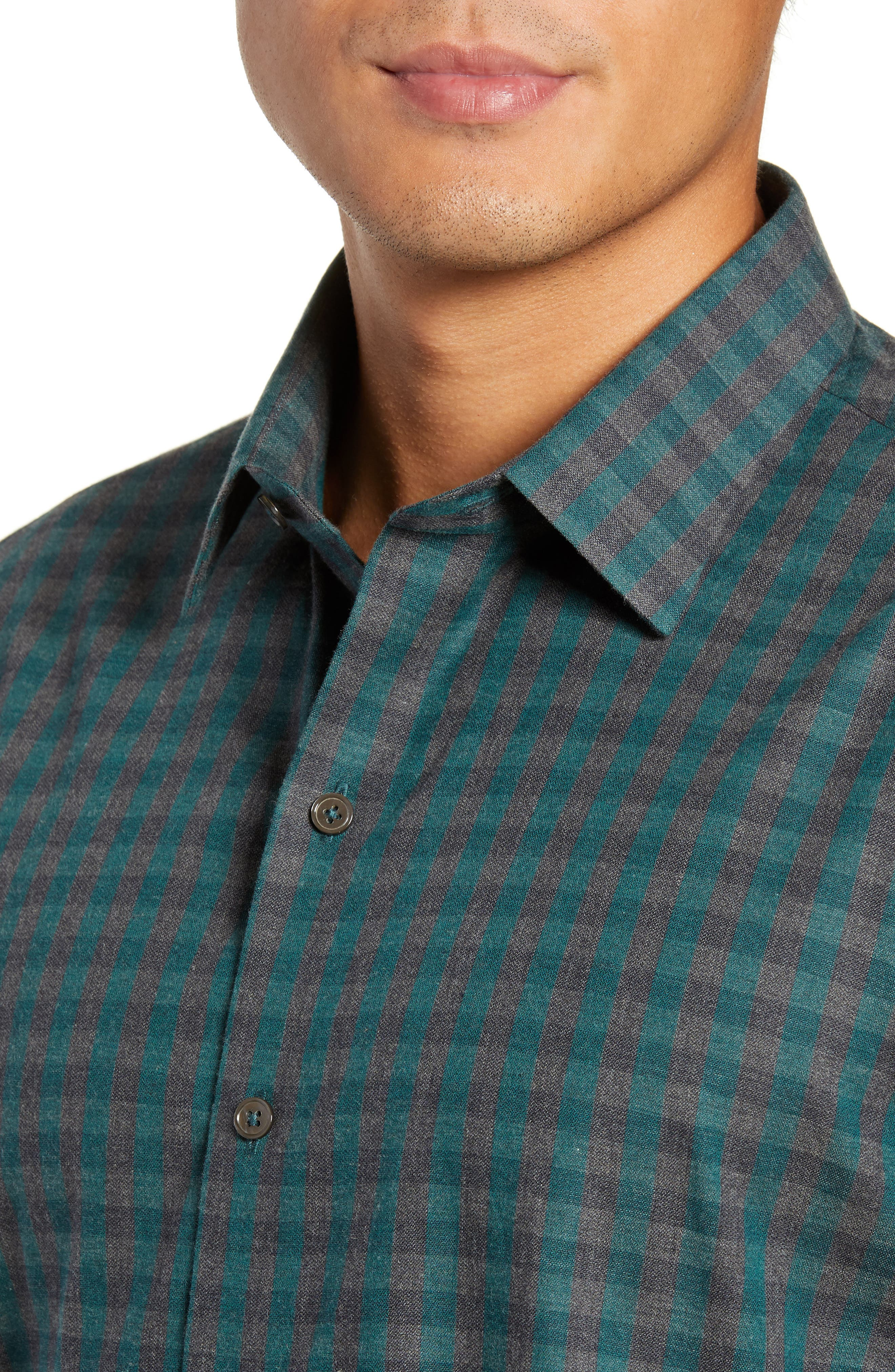 Lieberman Regular Fit Check Sport Shirt,                             Alternate thumbnail 2, color,                             NAVY