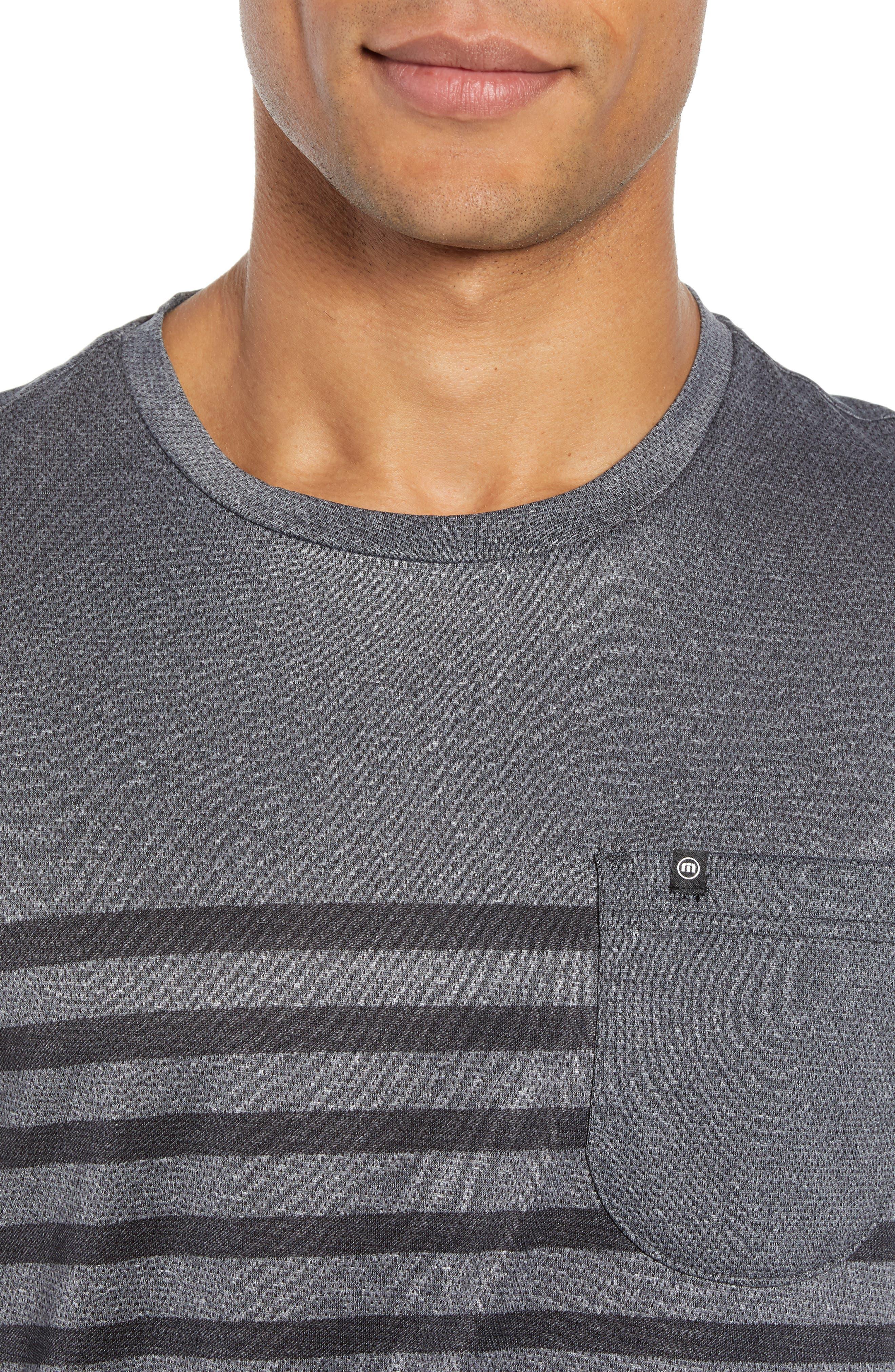 Cutoff Pocket T-Shirt,                             Alternate thumbnail 4, color,                             HEATHER MAGNET