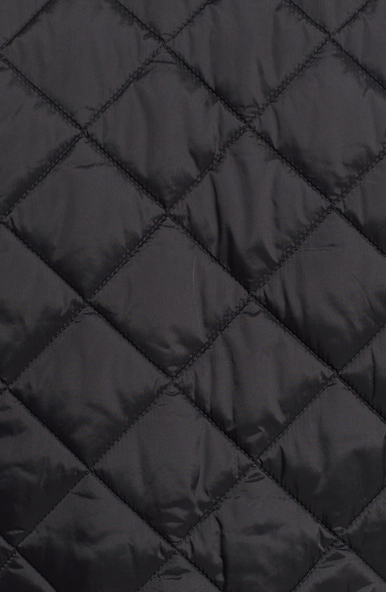 BARBOUR,                             Gear Quilted Jacket,                             Alternate thumbnail 7, color,                             BLACK