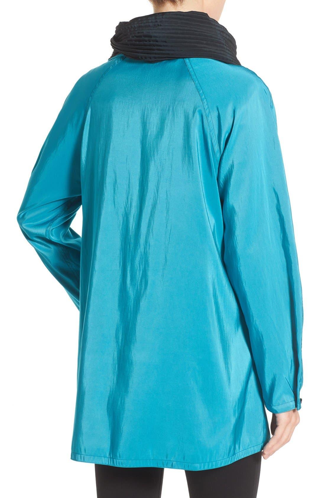 'Mini Donatella' Reversible Pleat Hood Packable Travel Coat,                             Alternate thumbnail 79, color,