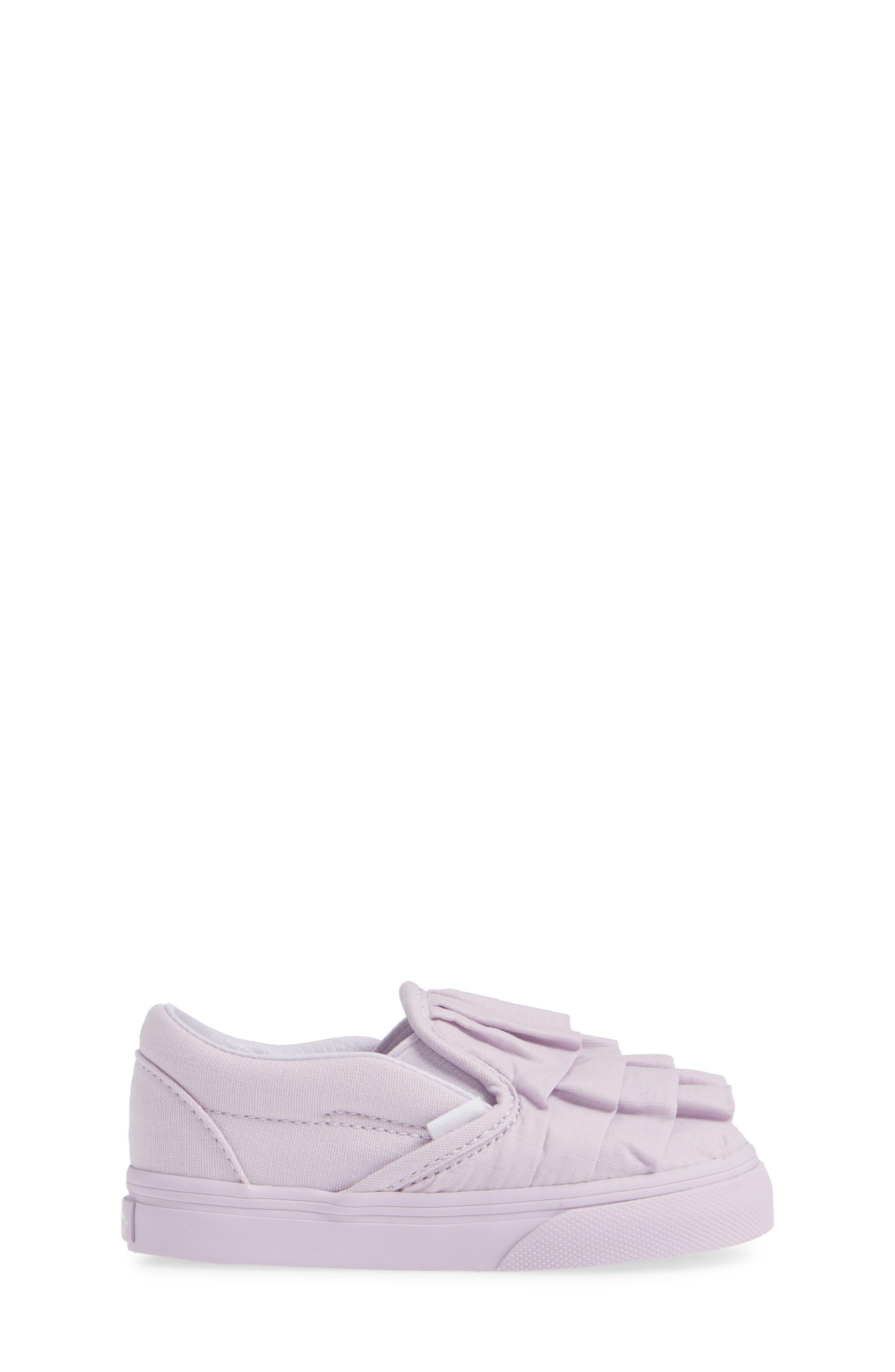Ruffle Classic Slip-On Sneaker,                             Alternate thumbnail 3, color,                             530