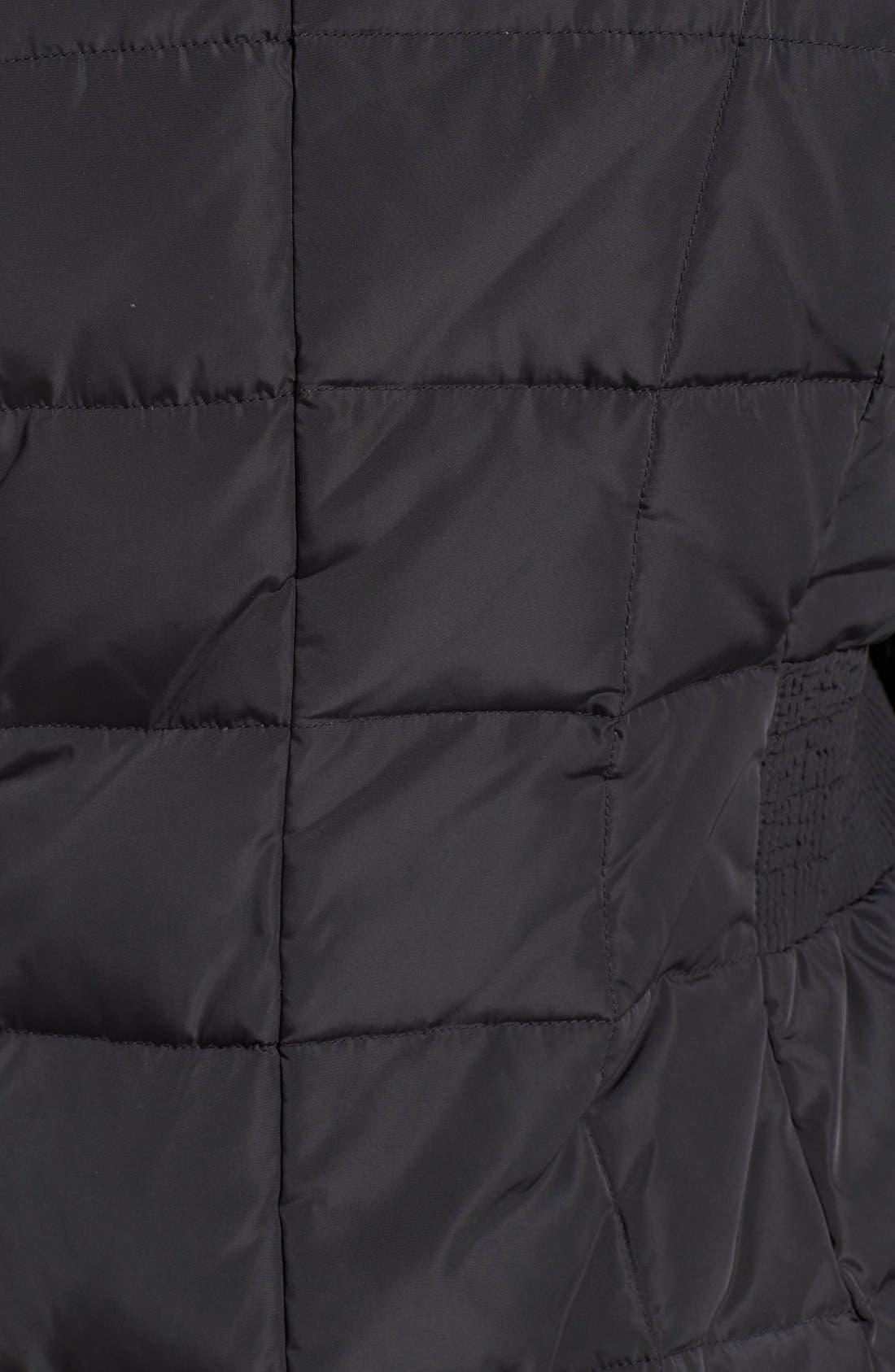 Cole Haan Bib Insert Down & Feather Fill Coat,                             Alternate thumbnail 4, color,                             BLACK