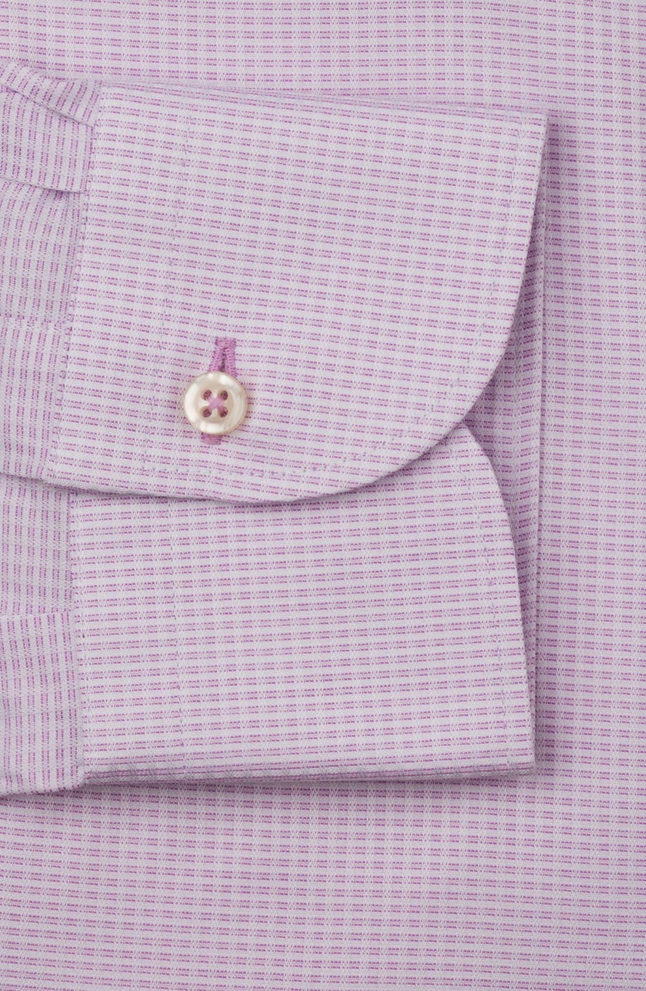Regular Fit Solid Dress Shirt,                             Alternate thumbnail 6, color,                             PINK