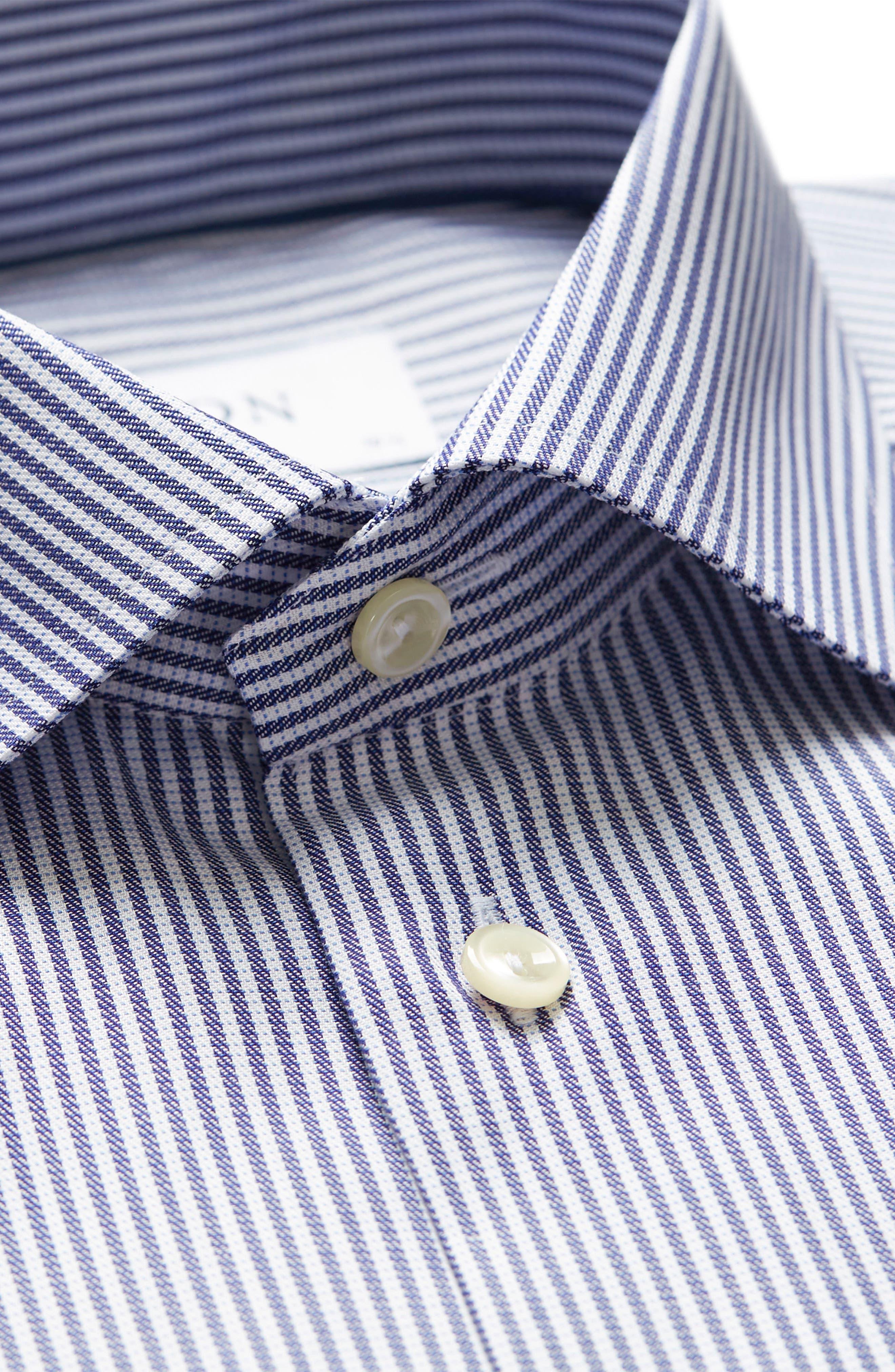 Contemporary Fit Stripe Dress Shirt,                             Alternate thumbnail 3, color,                             400