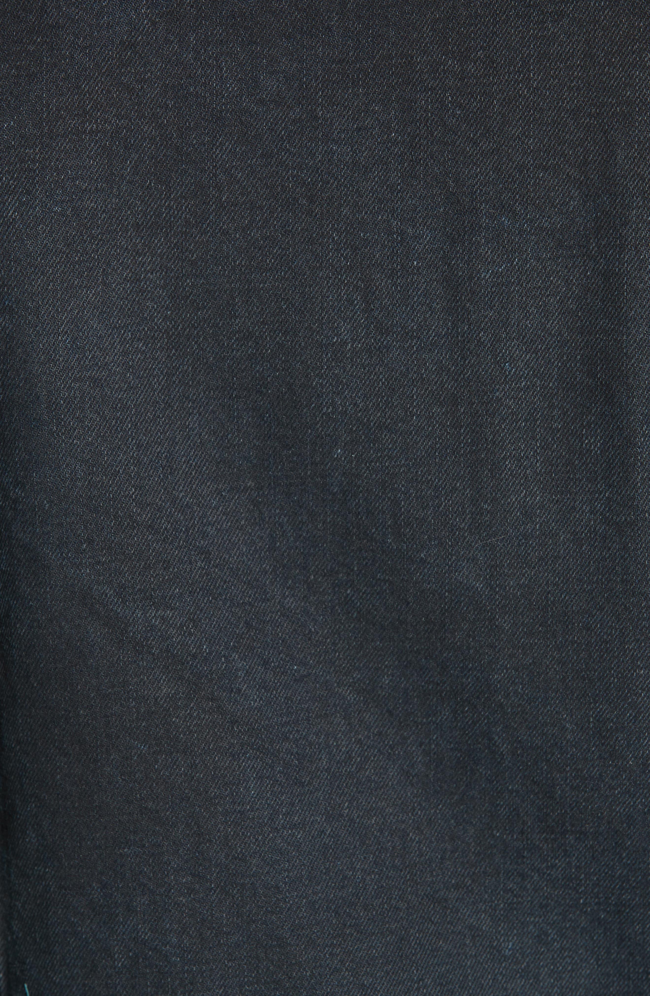KSUBI,                             Classic Denim Jacket,                             Alternate thumbnail 6, color,                             BLACK TOP