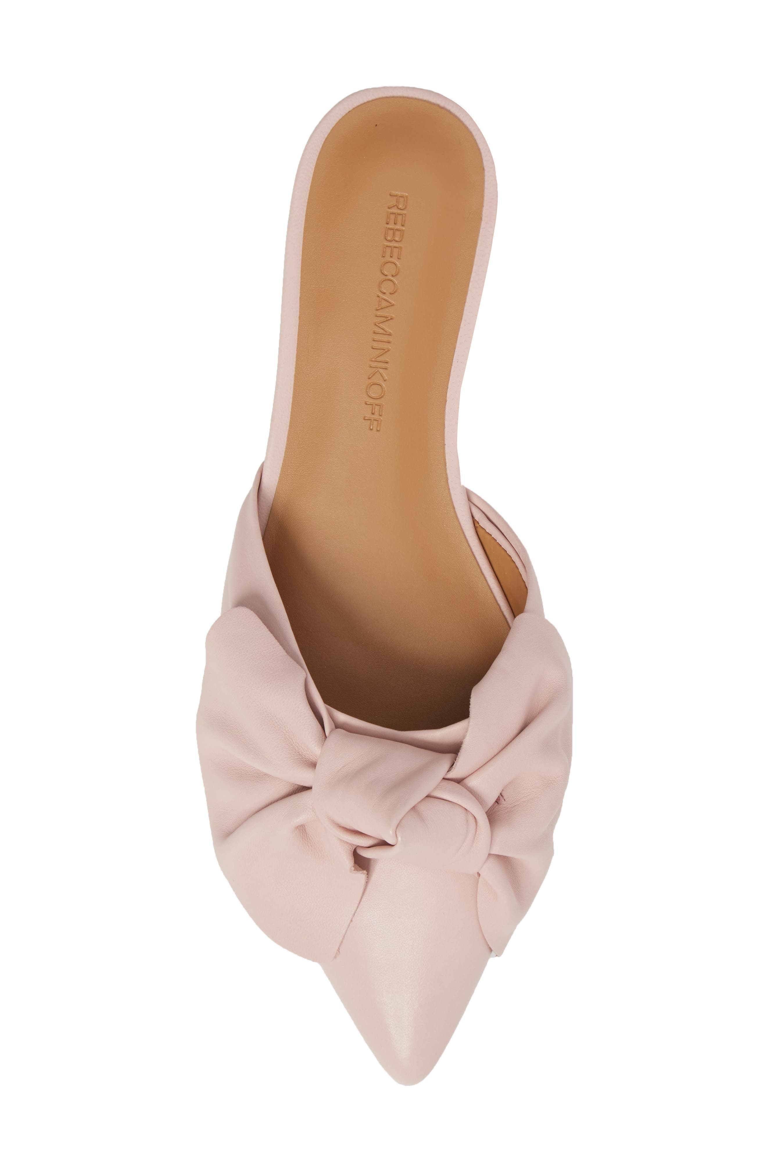 Alexis Bow Mule,                             Alternate thumbnail 5, color,                             MILLENNIAL PINK LEATHER