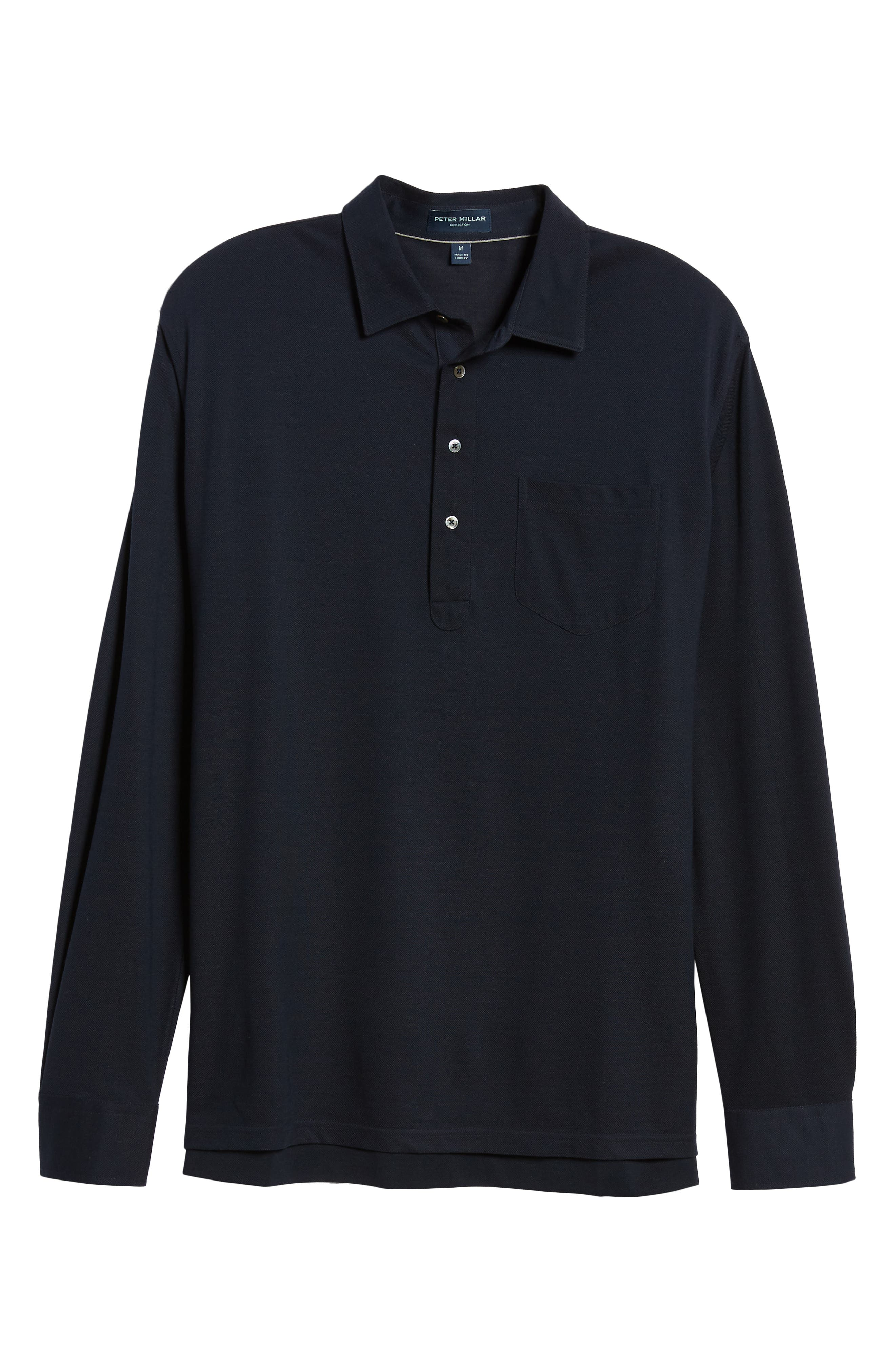 Avon Long Sleeve Silk & Cotton Polo,                             Alternate thumbnail 6, color,                             BARCHETTA