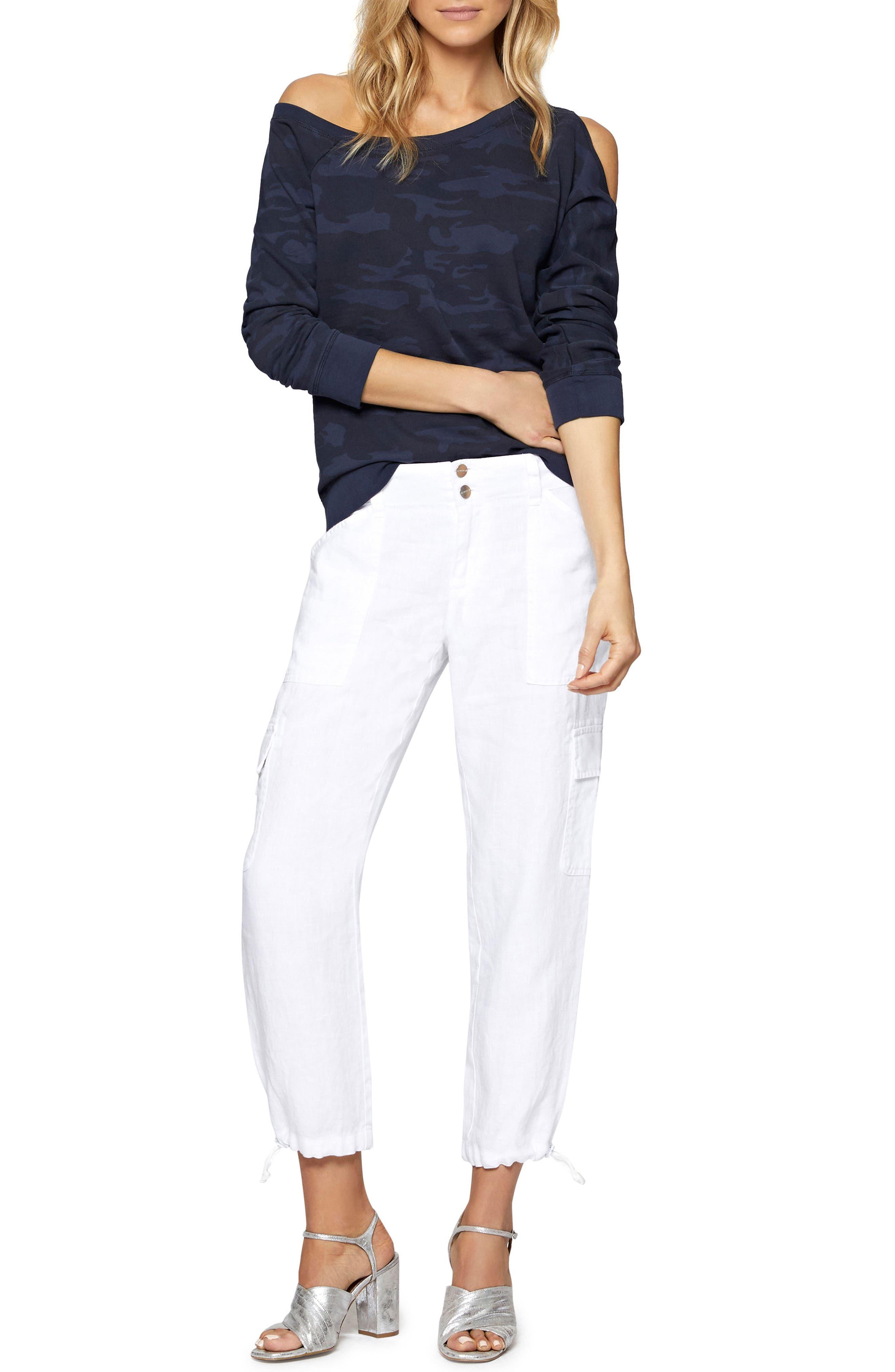 Alexi Asymmetrical Sweatshirt,                             Alternate thumbnail 8, color,