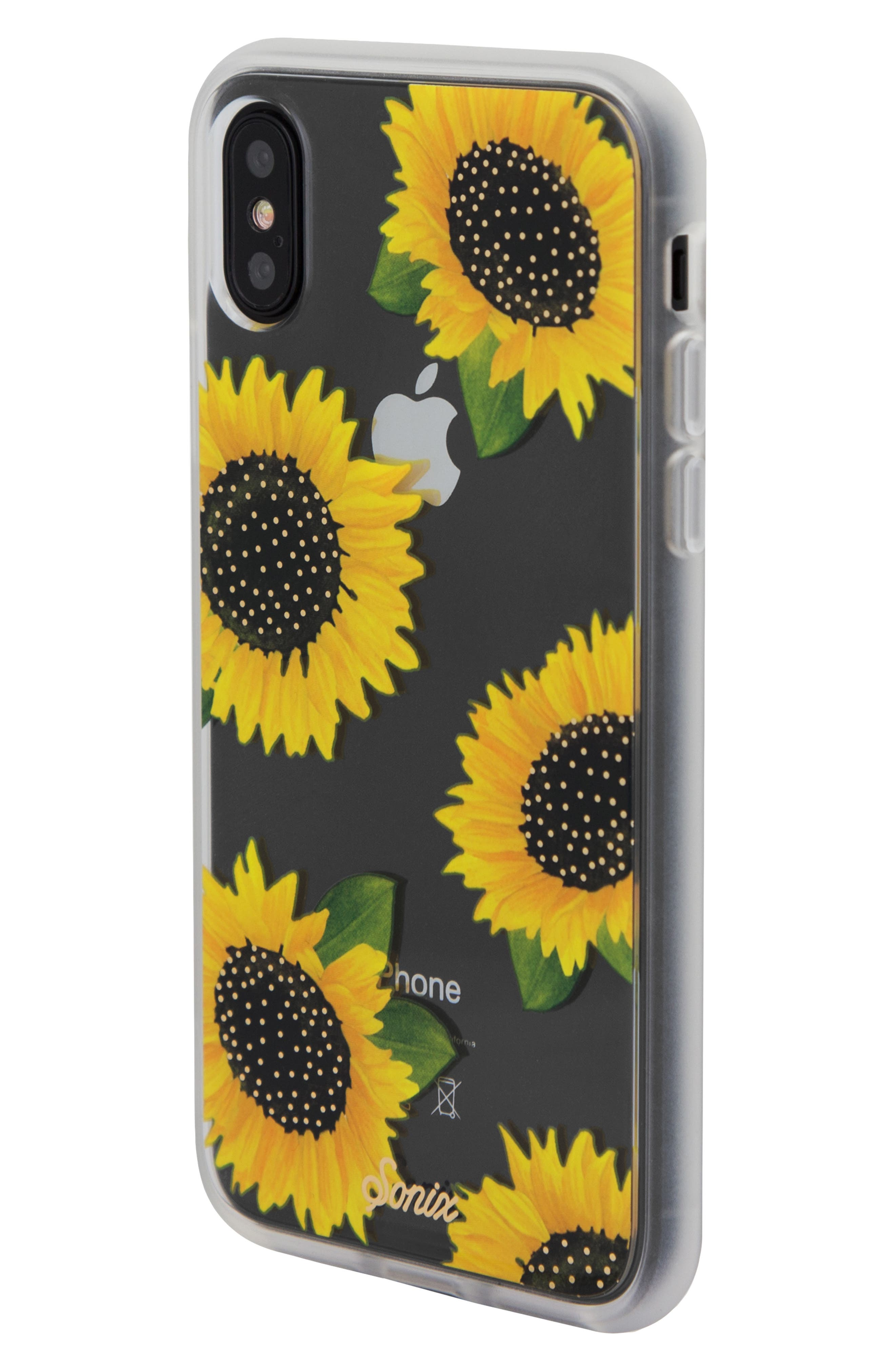 Sunflower iPhone X/Xs, XR & X Max Case,                             Alternate thumbnail 2, color,                             YELLOW