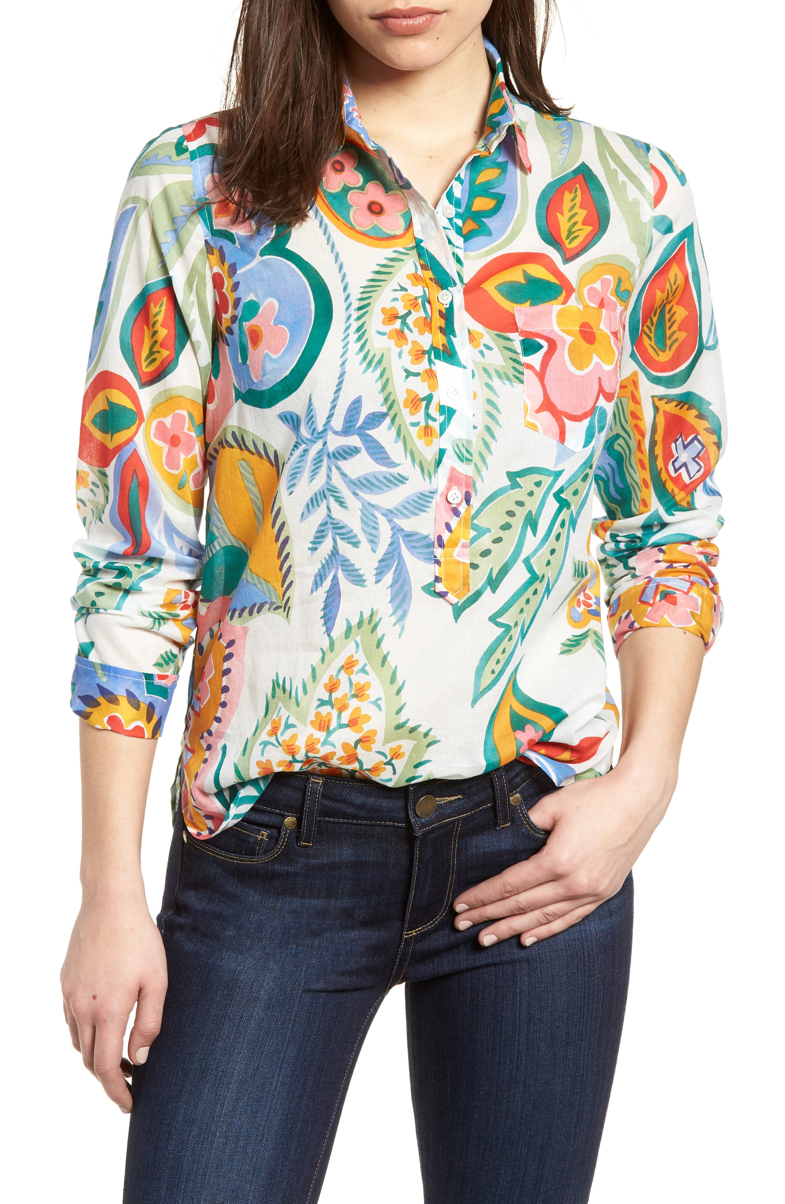 Sunflower Cotton Top,                             Main thumbnail 1, color,                             800