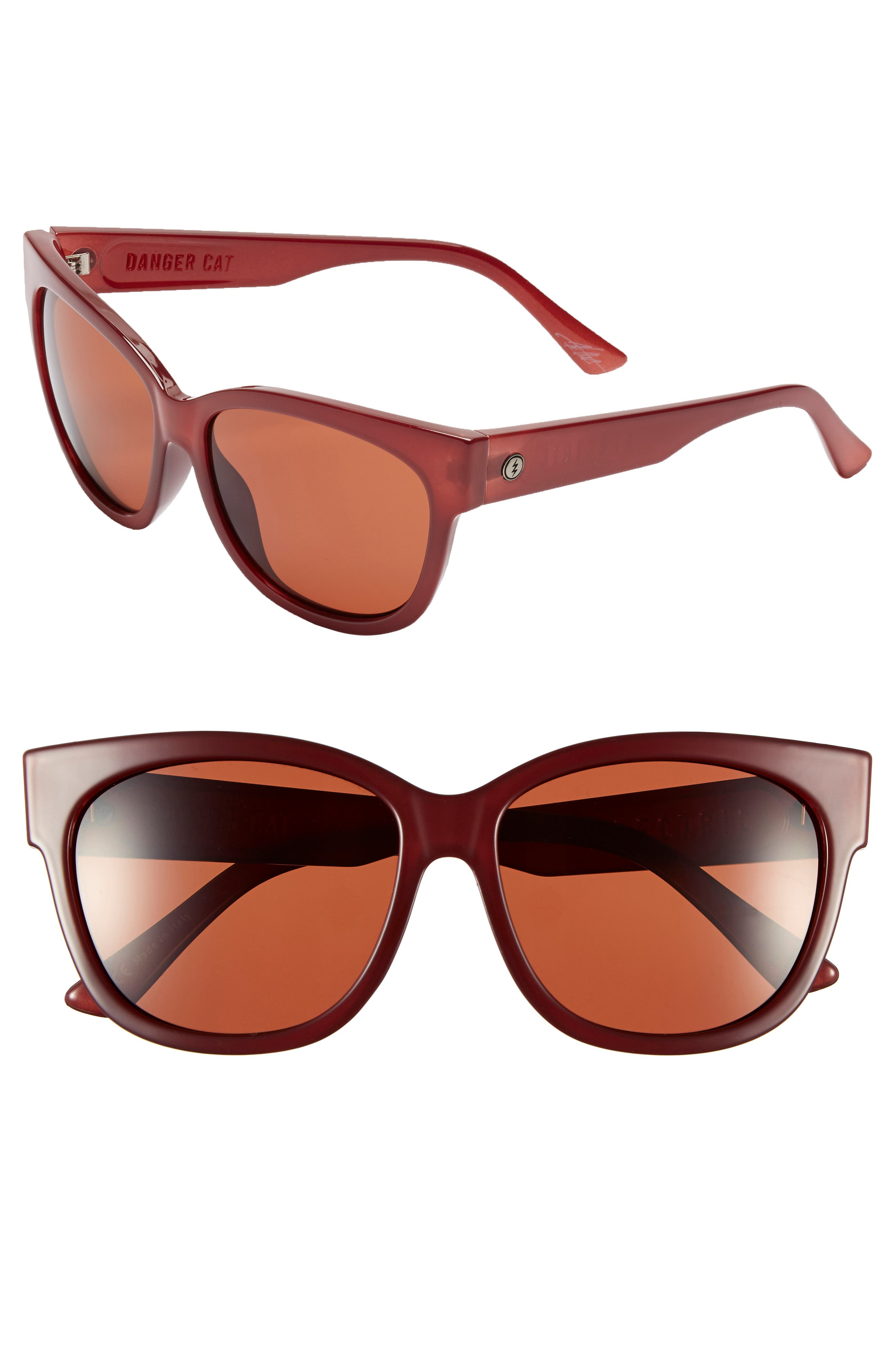 'Danger Cat' 58mm Retro Sunglasses,                             Alternate thumbnail 3, color,