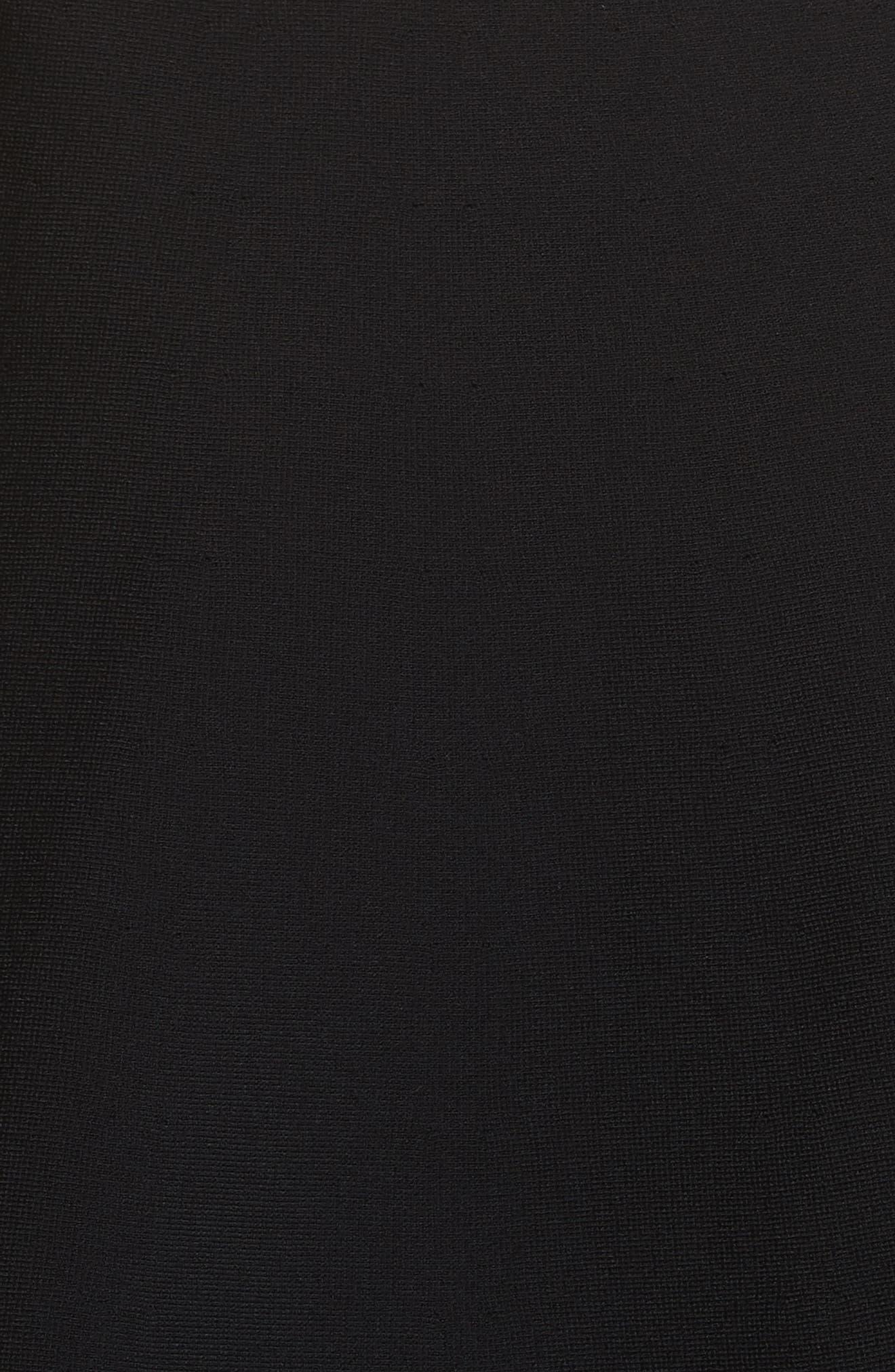 Lace Trim Tiered Sweater Dress,                             Alternate thumbnail 6, color,                             BLACK