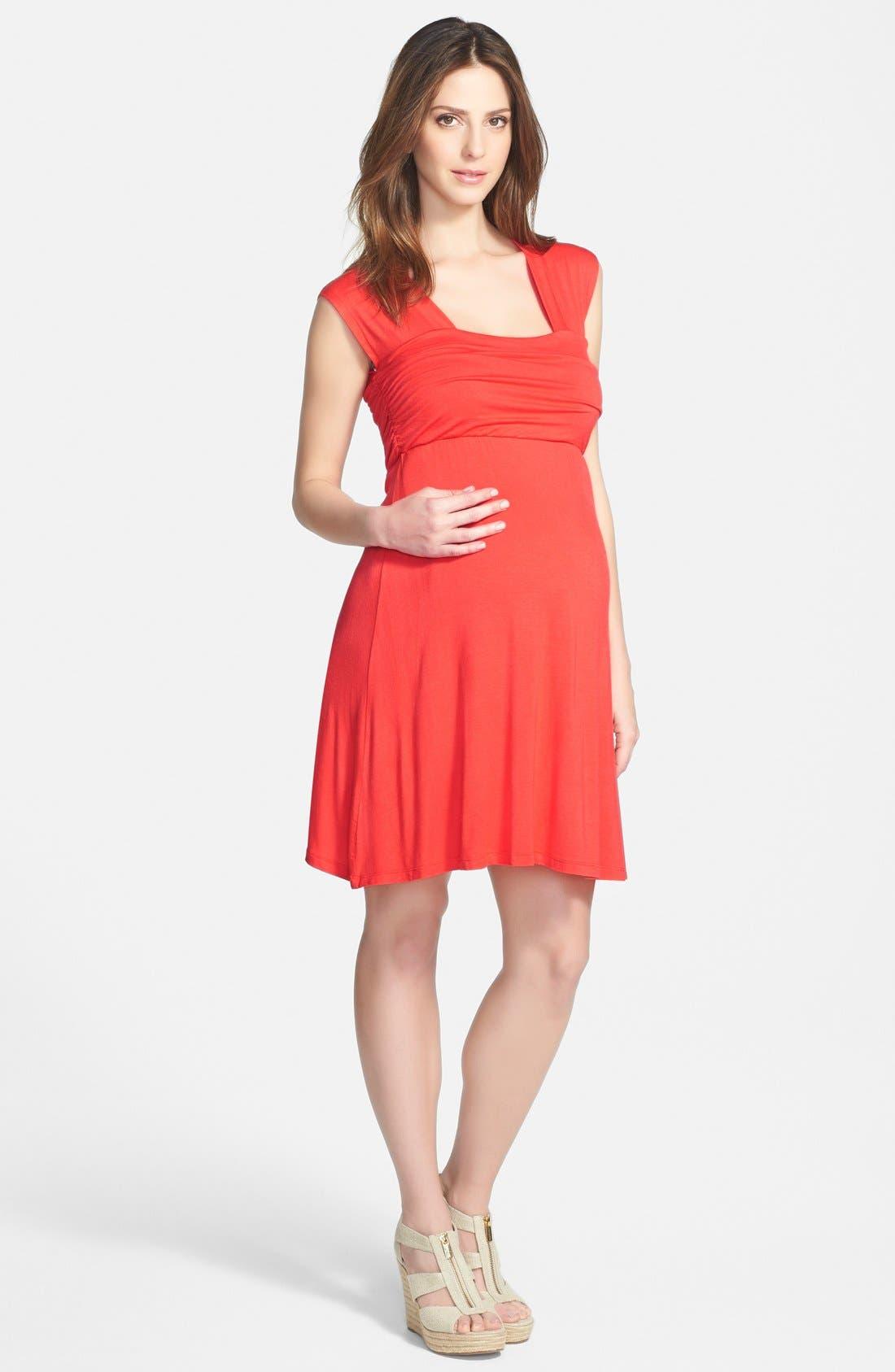 'Mini Sweetheart' Dress,                             Main thumbnail 1, color,                             ORANGE