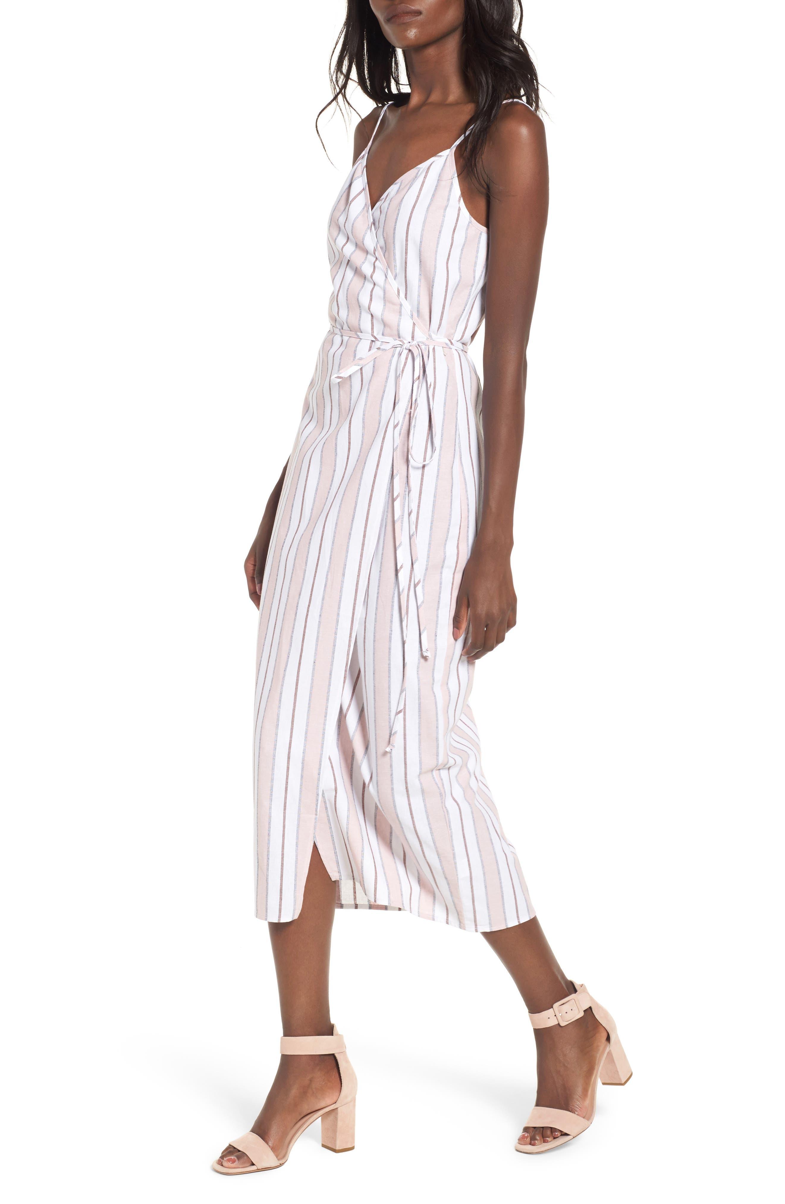 Wrap Midi Dress,                             Main thumbnail 3, color,