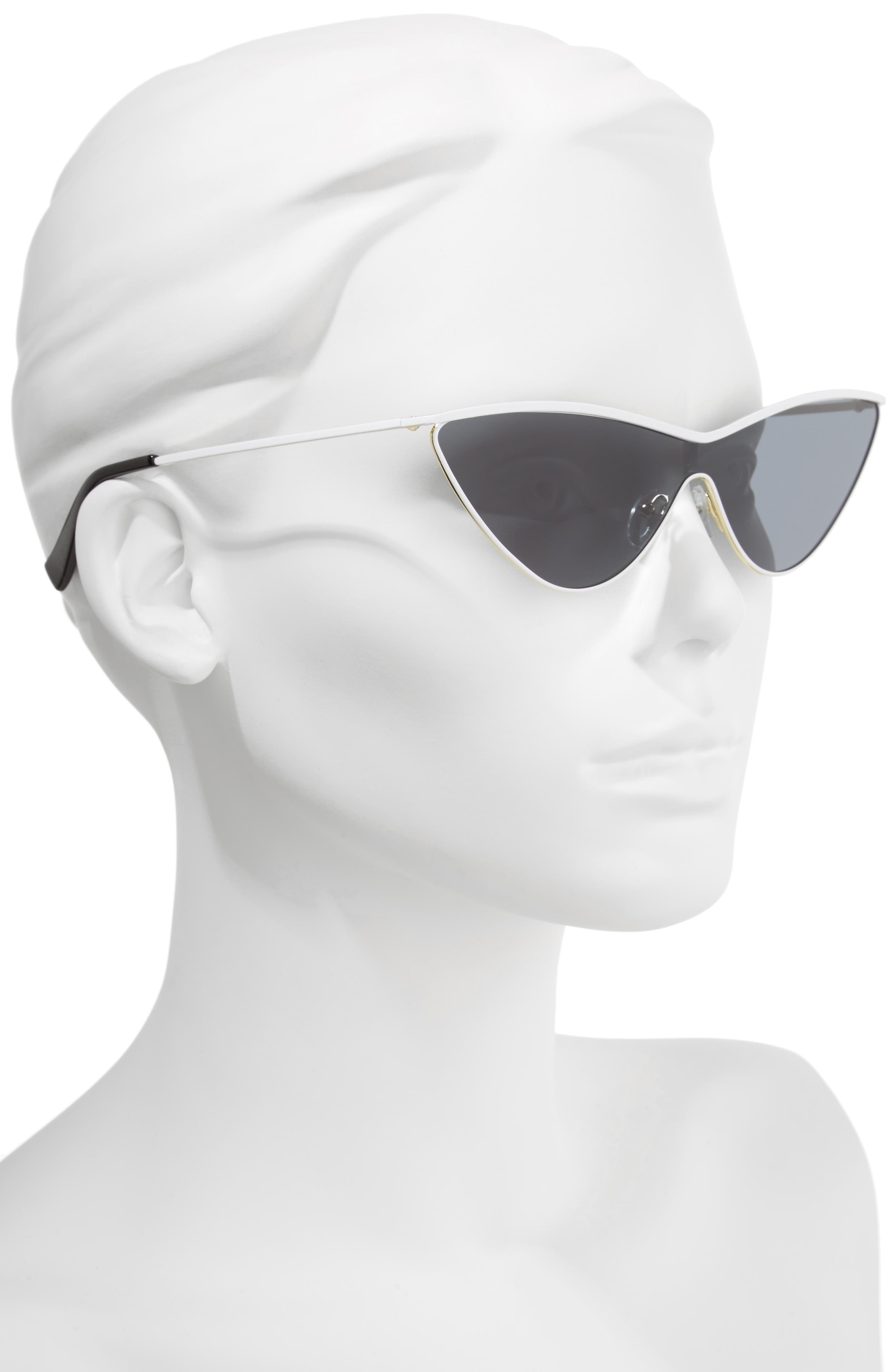 The Fugitive 71mm Sunglasses,                             Alternate thumbnail 4, color,                             WHITE