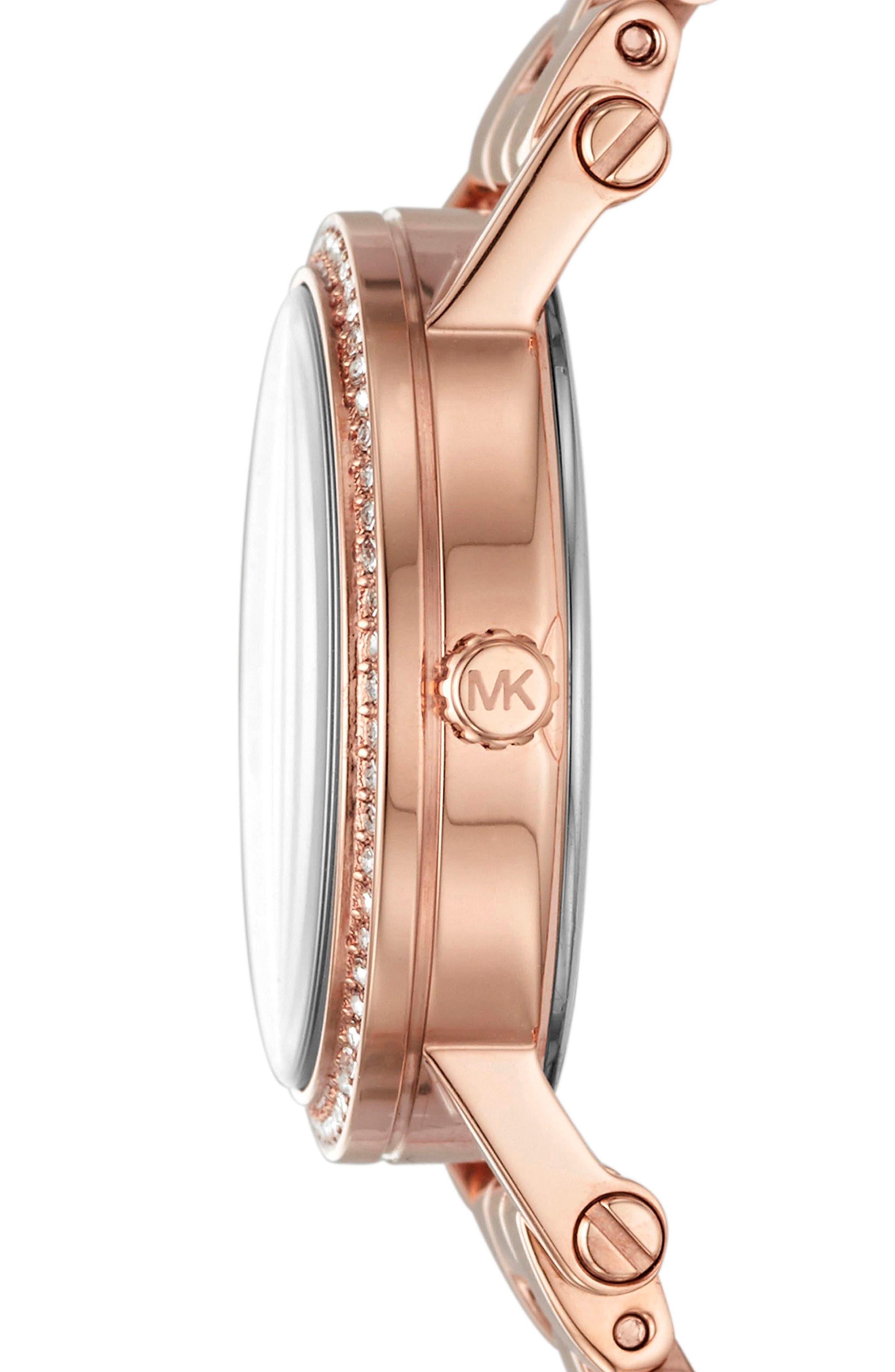Petite Norie Pavé Bracelet Watch, 28mm,                             Alternate thumbnail 5, color,