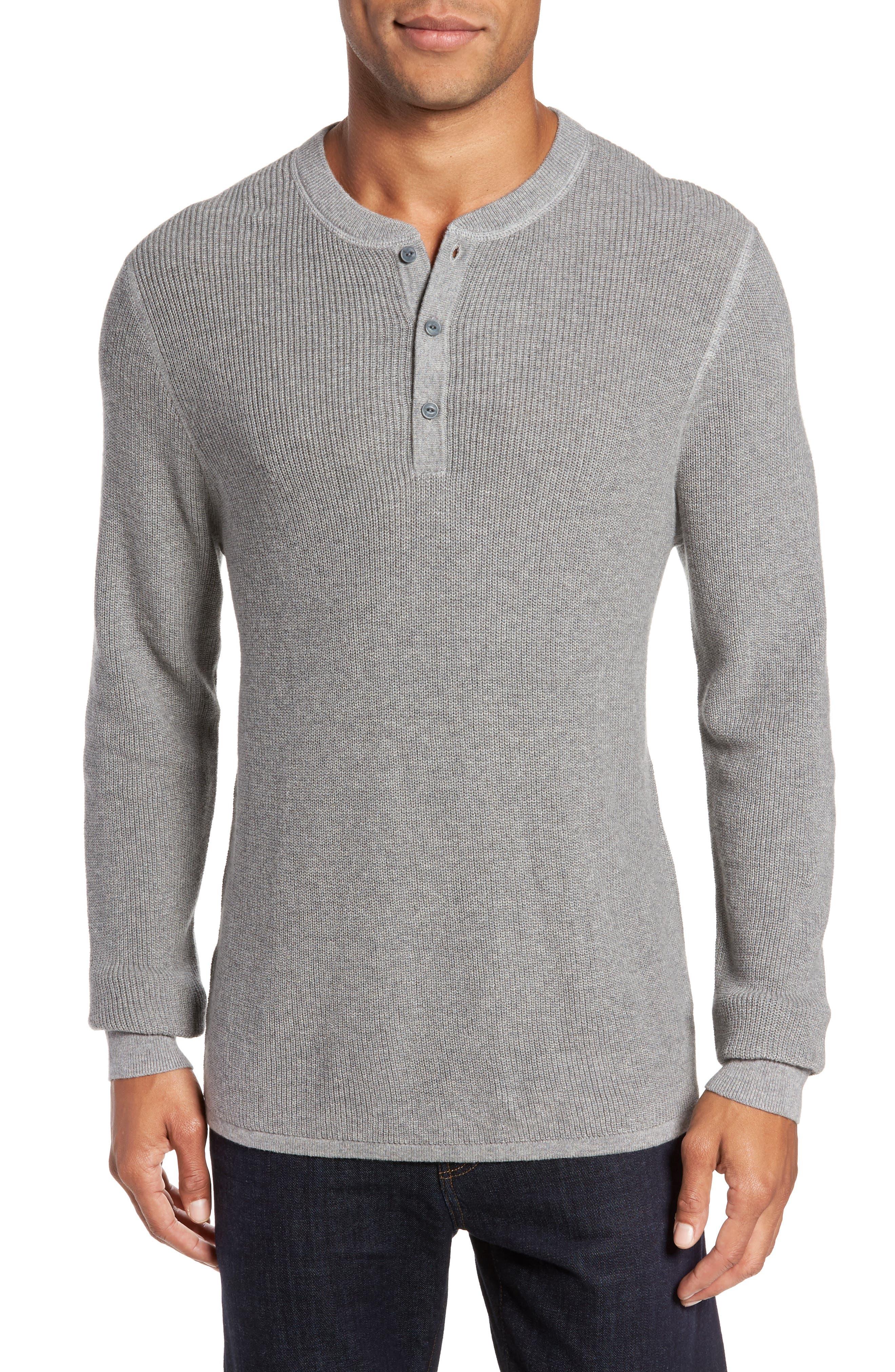 Cotton & Cashmere Henley Sweater,                             Main thumbnail 1, color,                             030
