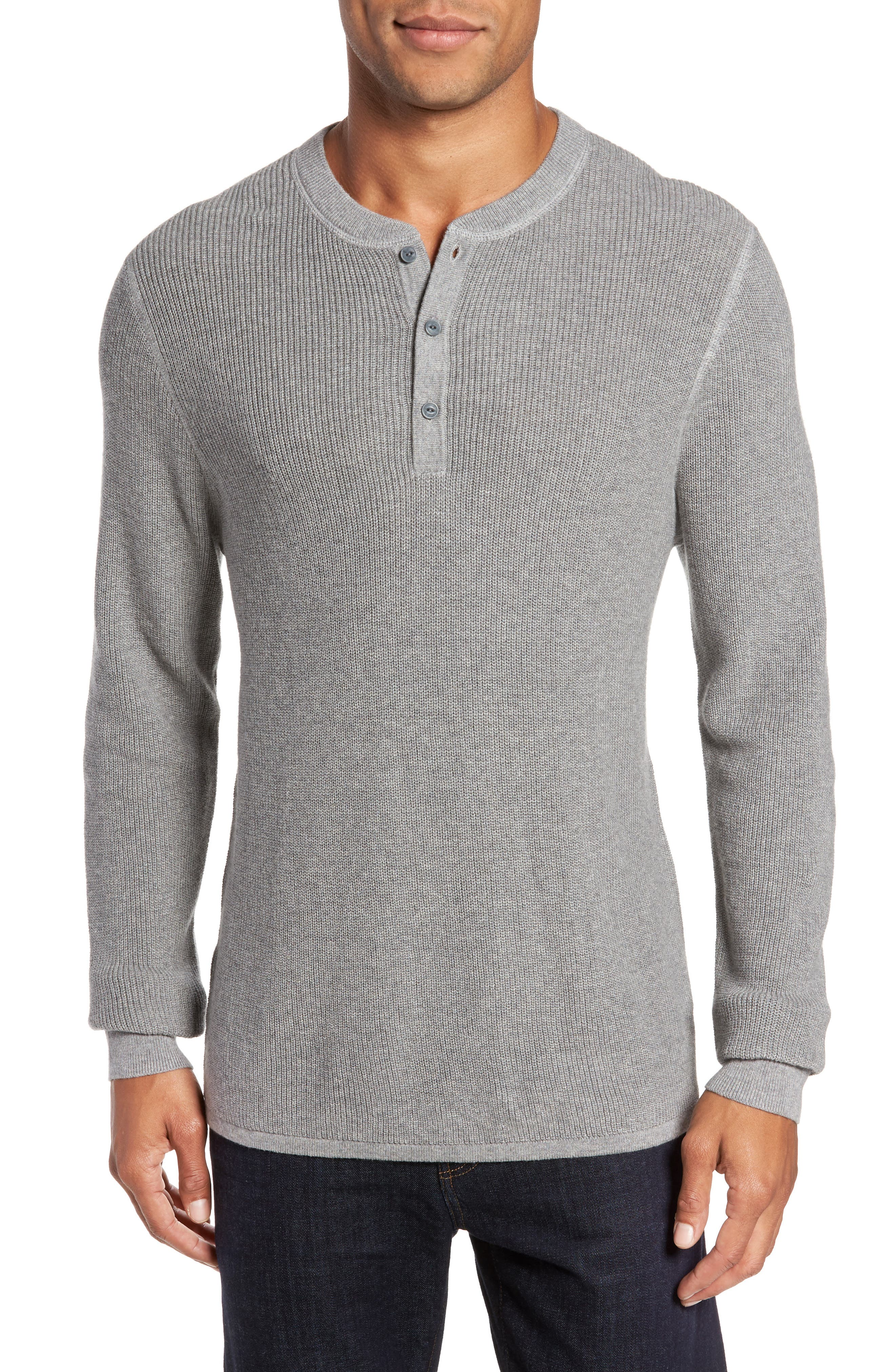 Cotton & Cashmere Henley Sweater,                         Main,                         color, 030