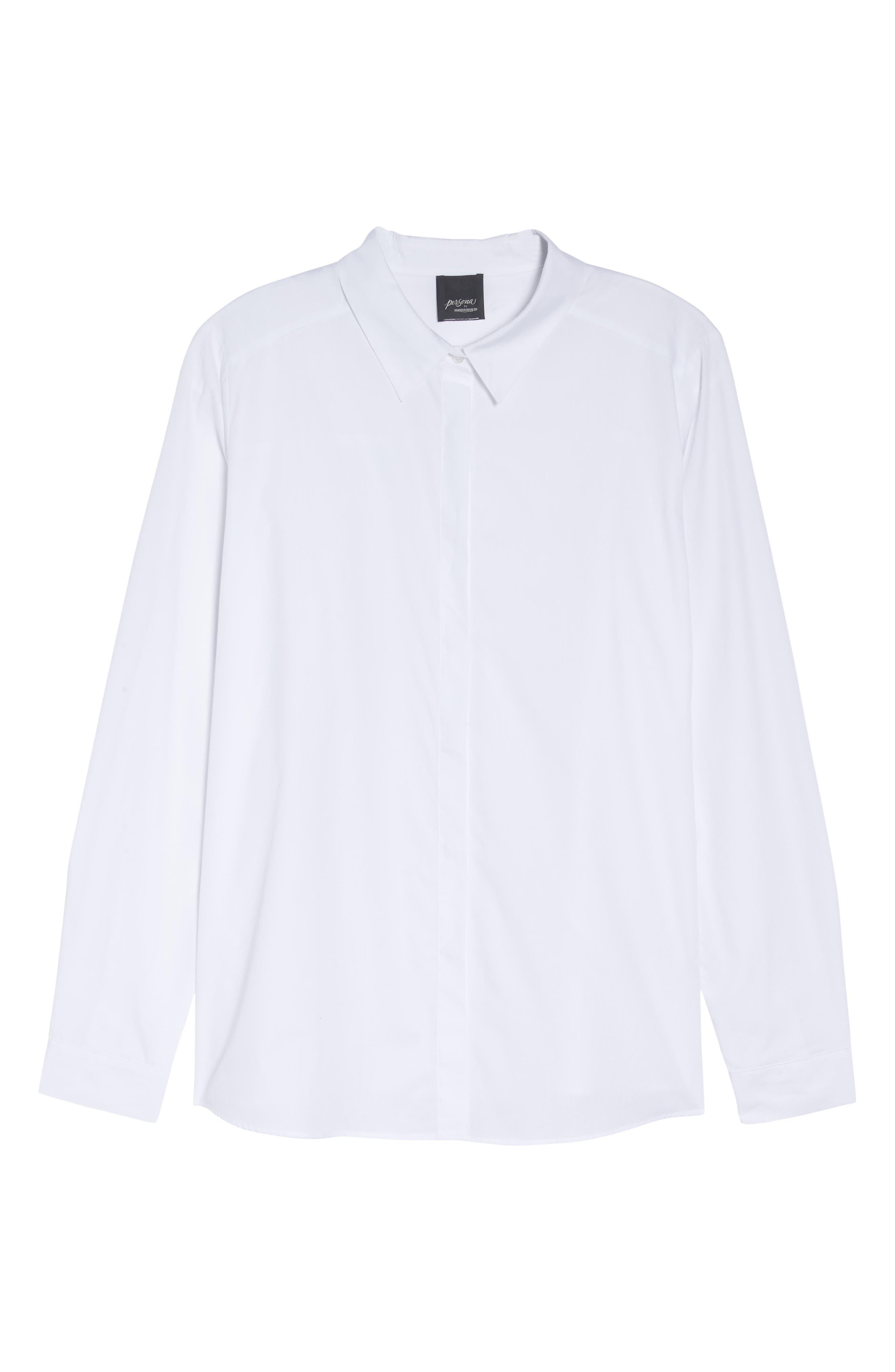 Button Front Shirt,                             Alternate thumbnail 7, color,