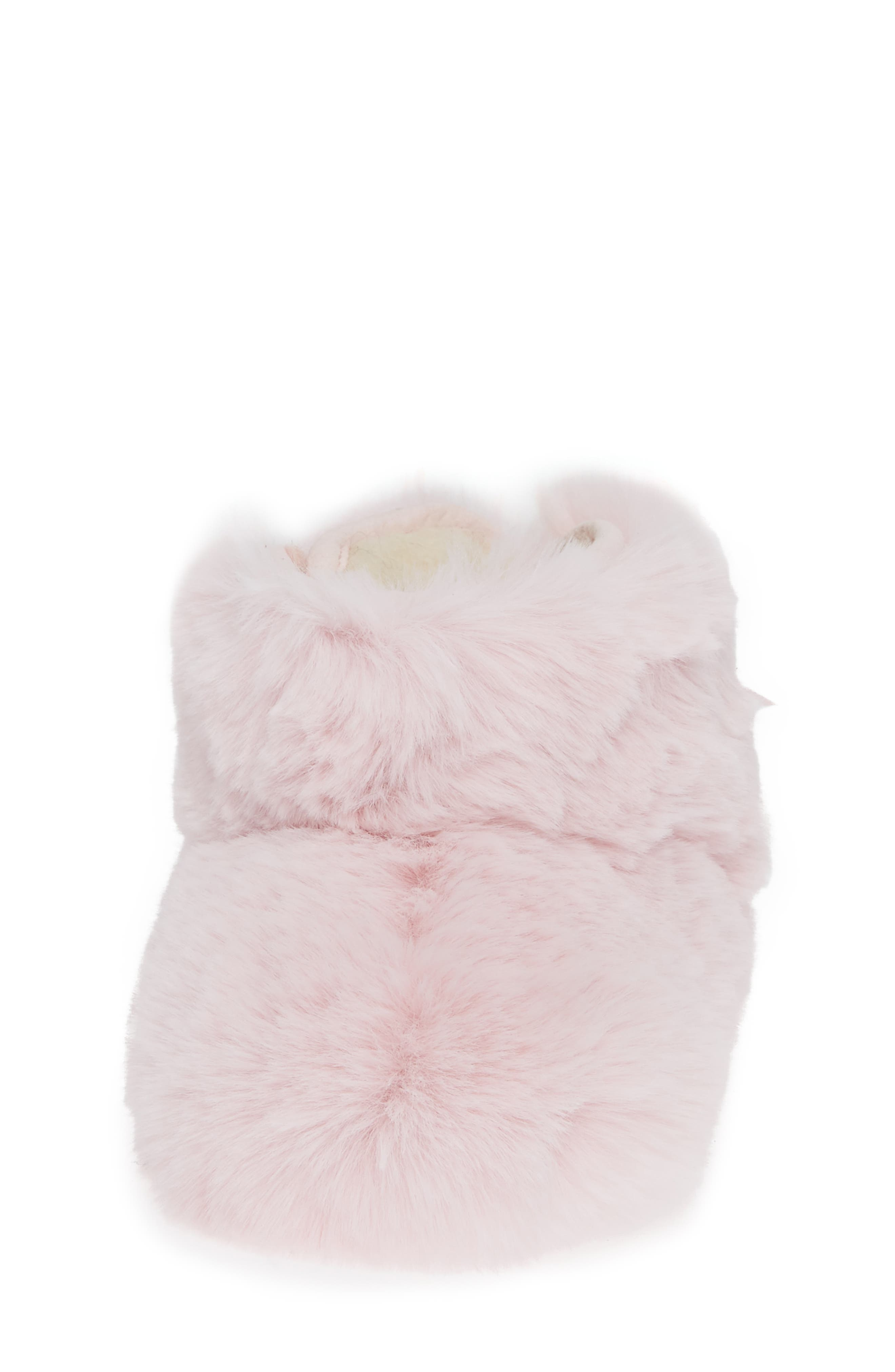 Jesse Bow Fluff Bootie,                             Alternate thumbnail 4, color,                             PINK