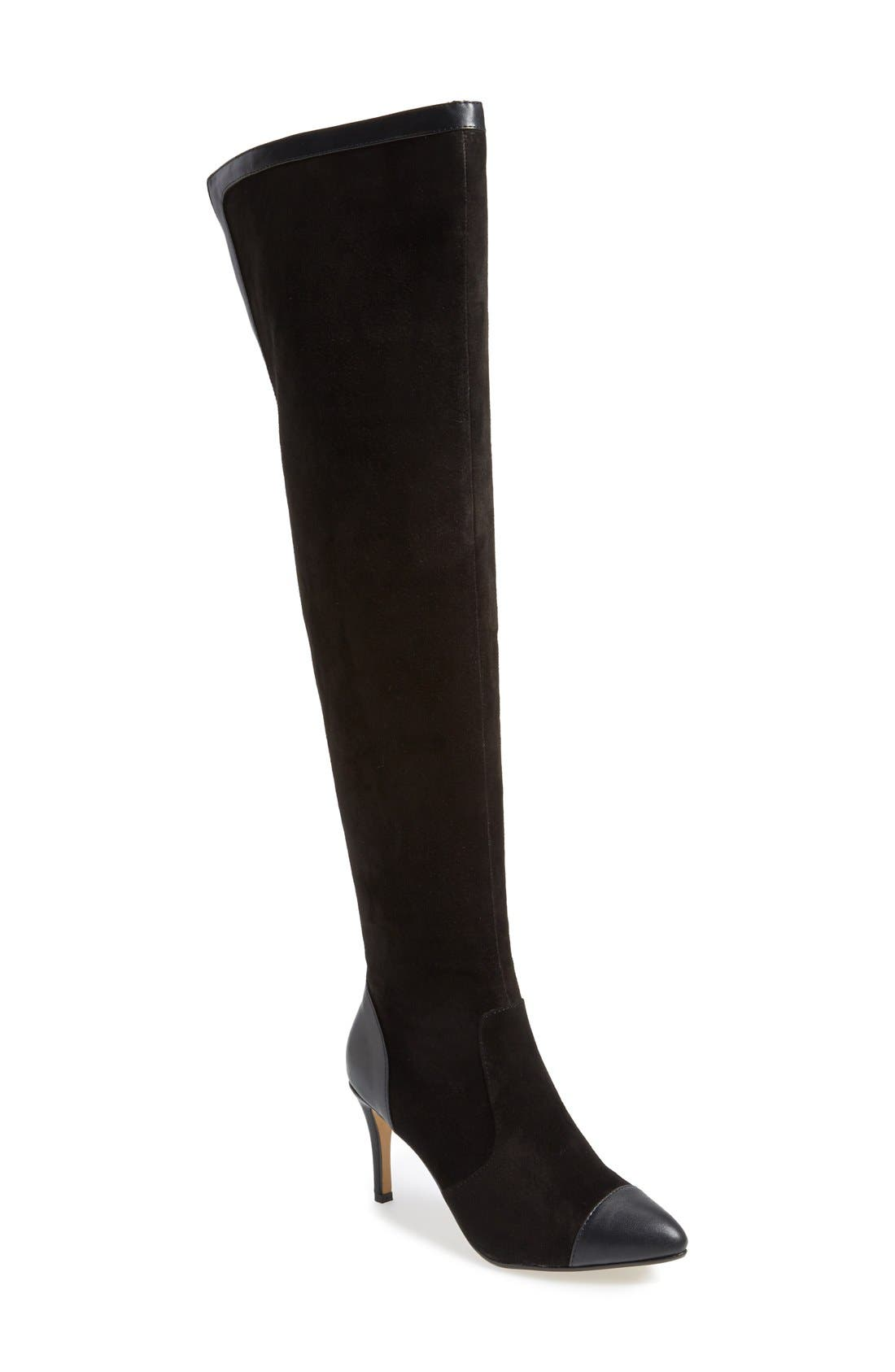 'Allure' Over The Knee Boot,                             Main thumbnail 1, color,                             001