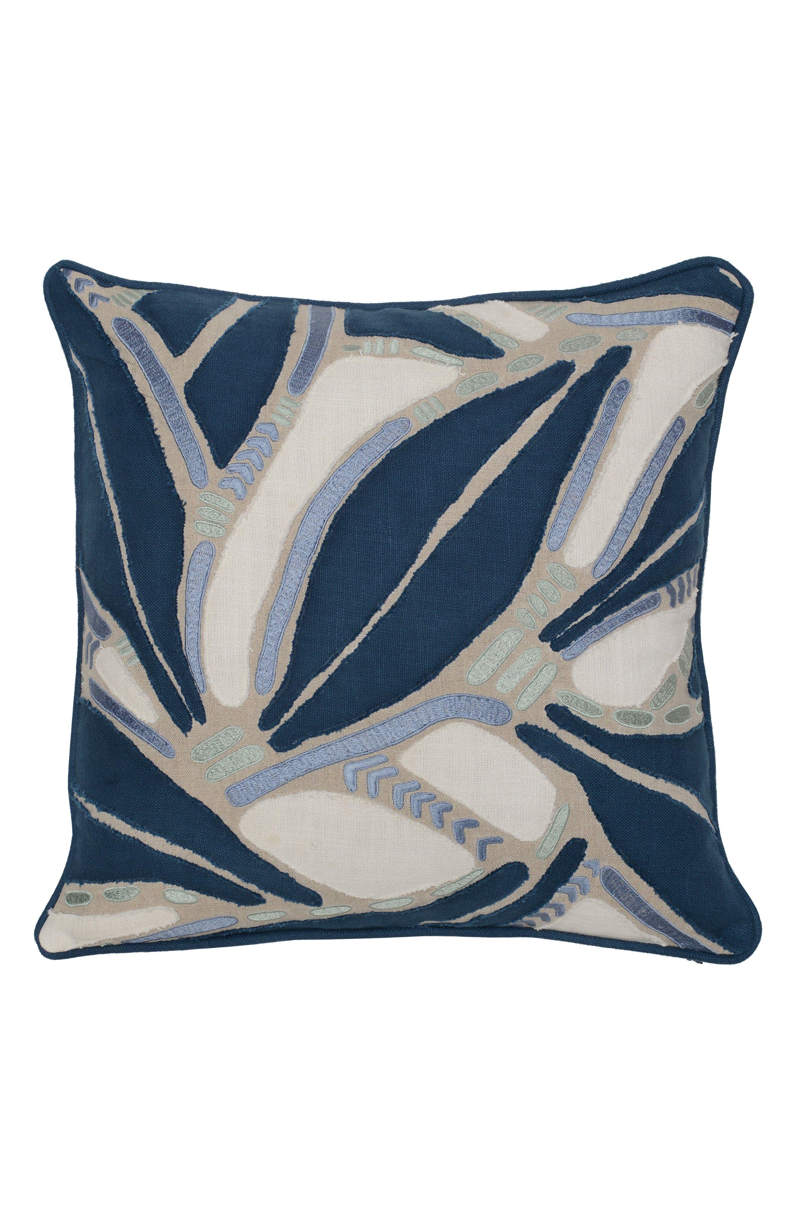 Lilo Accent Pillow,                             Main thumbnail 1, color,                             NAVY/ BLUE