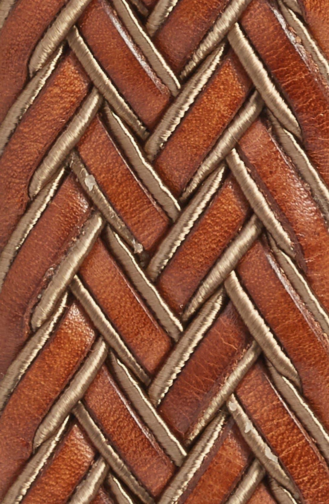 Braided Belt,                             Alternate thumbnail 2, color,                             TAN/ COGNAC