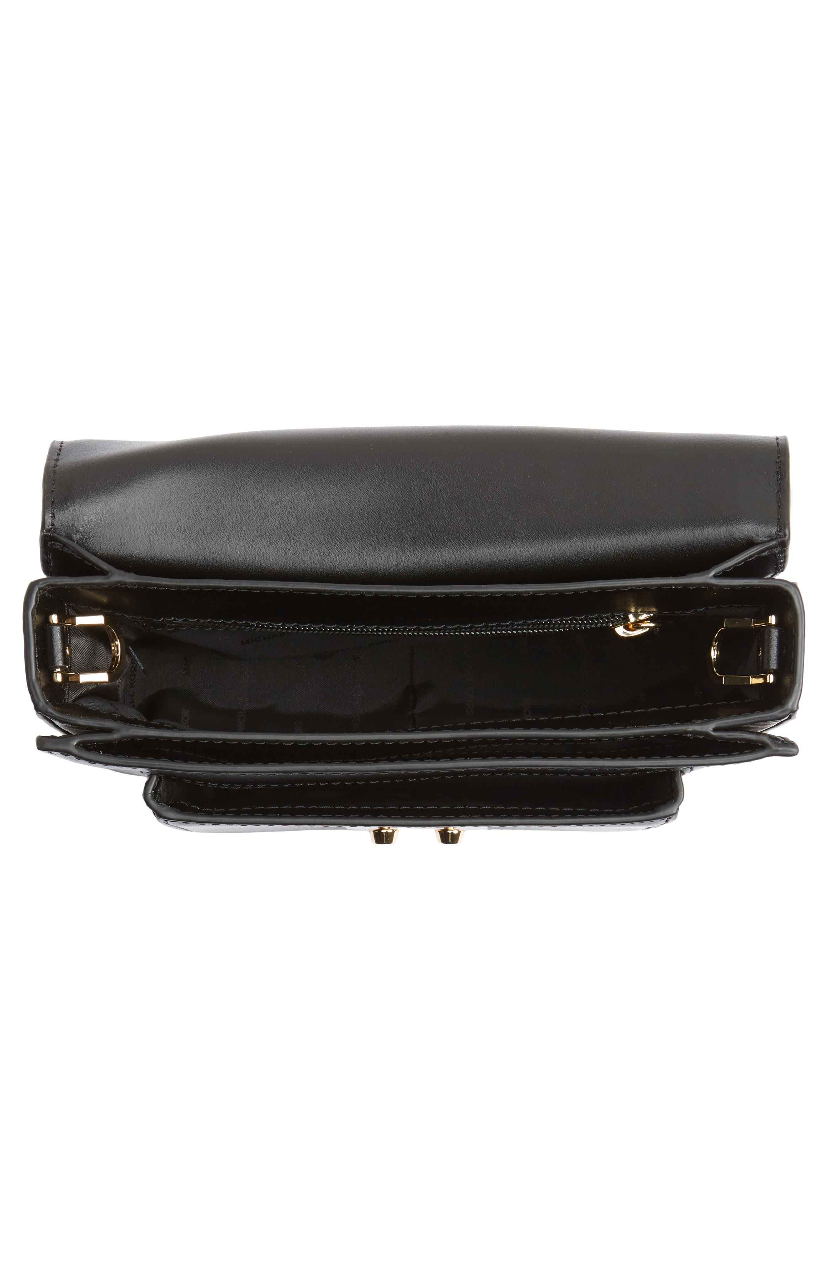 Large Sloan Editor Leather Shoulder Bag,                             Alternate thumbnail 4, color,                             BLACK