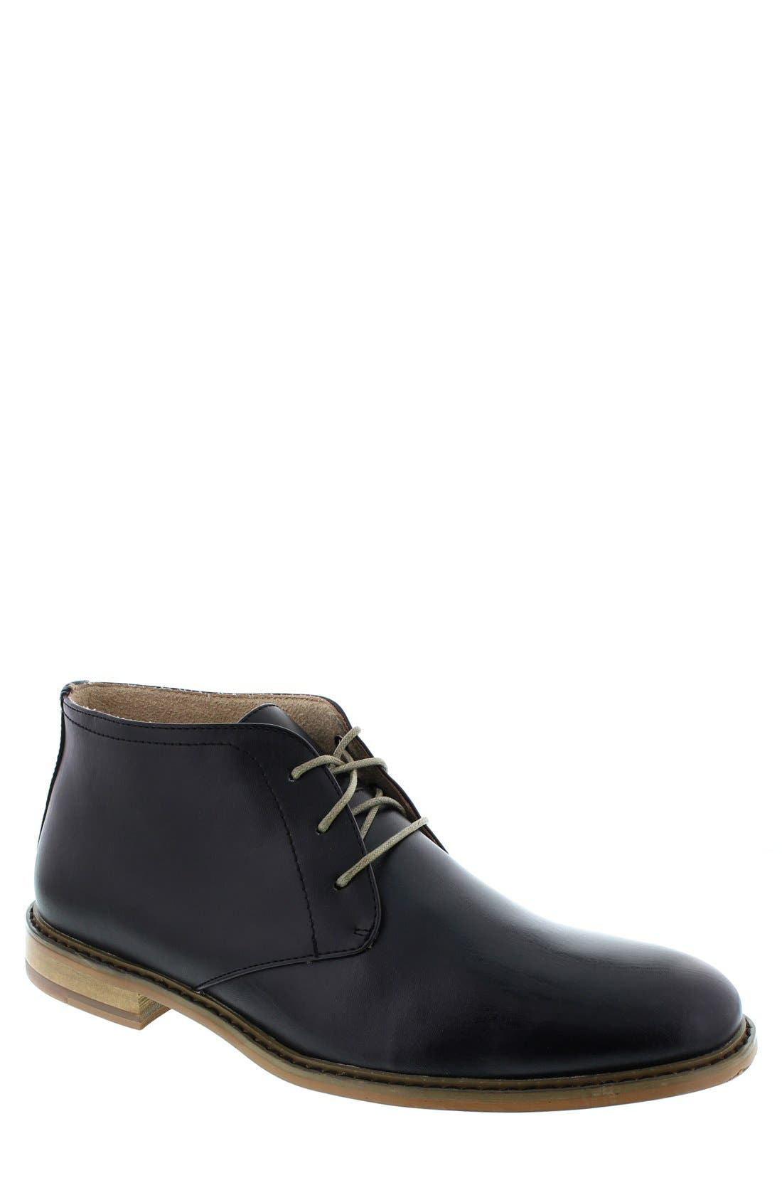 DEER STAGS,                             'Seattle' Leather Chukka Boot,                             Main thumbnail 1, color,                             001