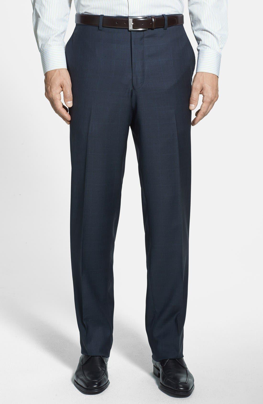 PETER MILLAR,                             Classic Fit Navy Windowpane Suit,                             Alternate thumbnail 3, color,                             410