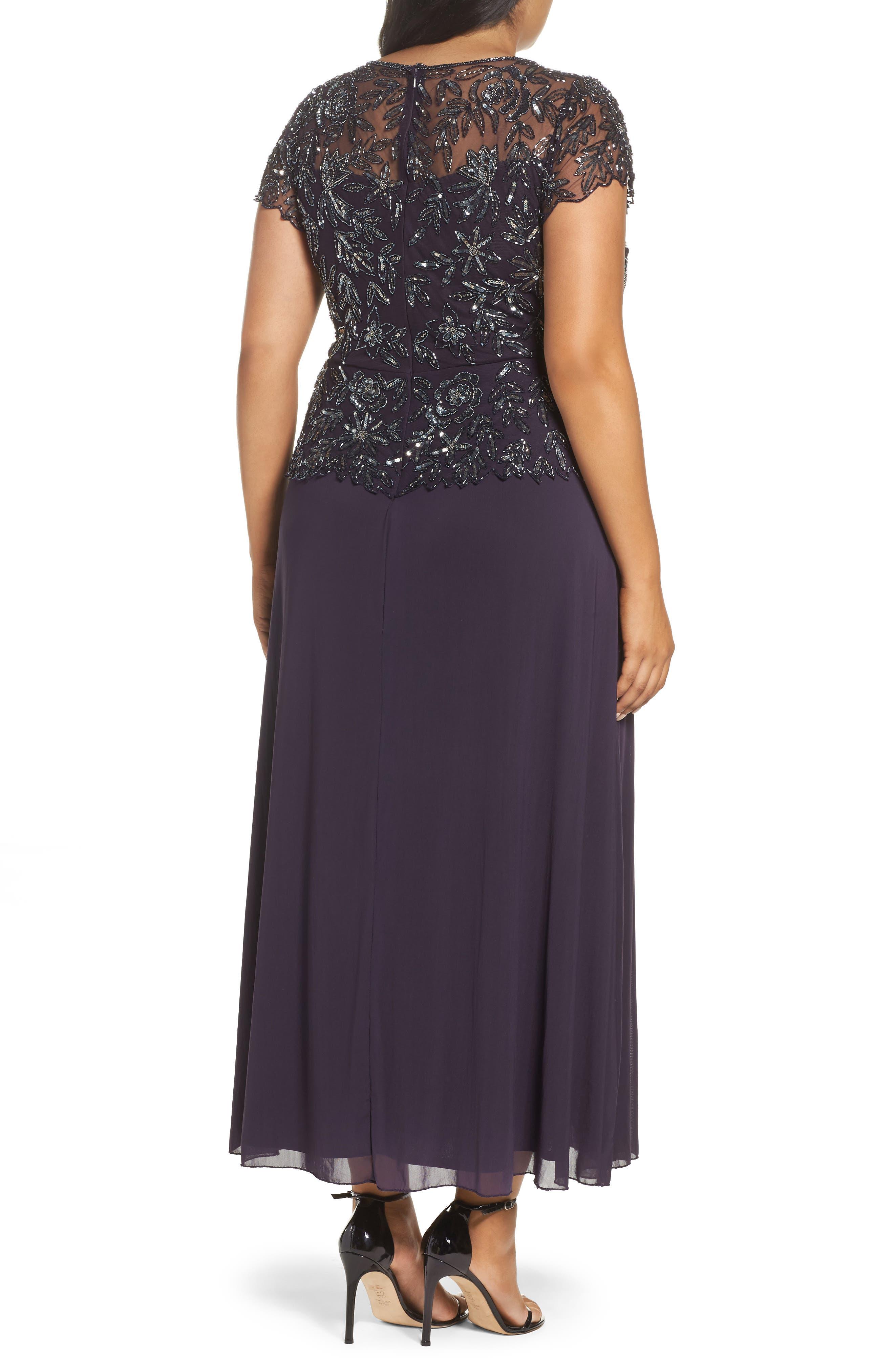 Mock 2-Pc. A-Line Gown,                             Alternate thumbnail 8, color,