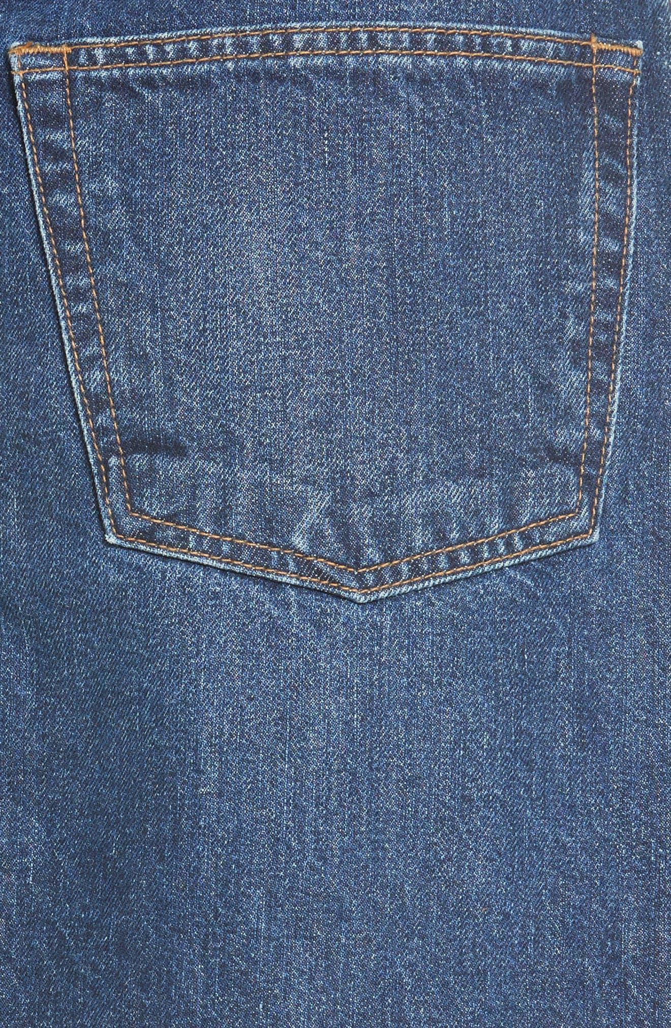 Originals High Waist Denim Miniskirt,                             Alternate thumbnail 5, color,                             401