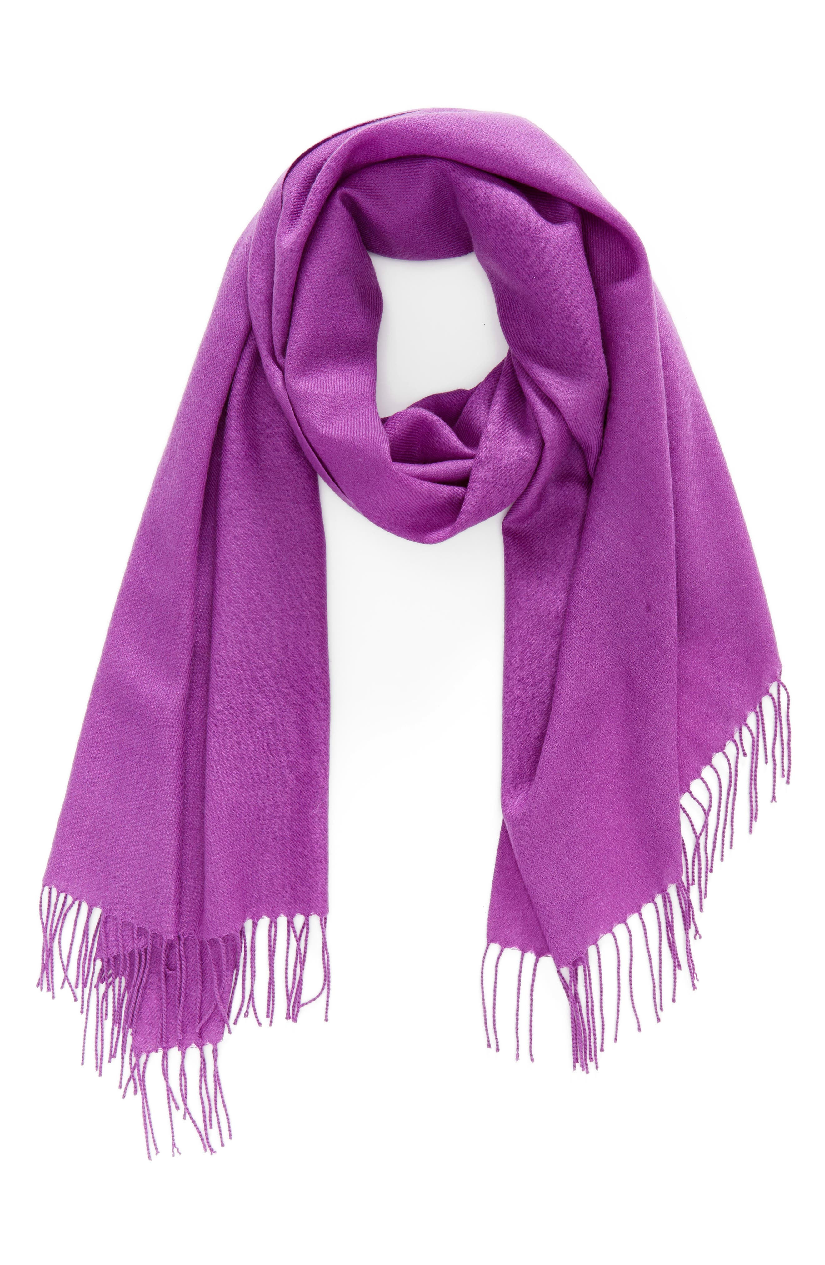 Tissue Weight Wool & Cashmere Scarf,                             Alternate thumbnail 78, color,