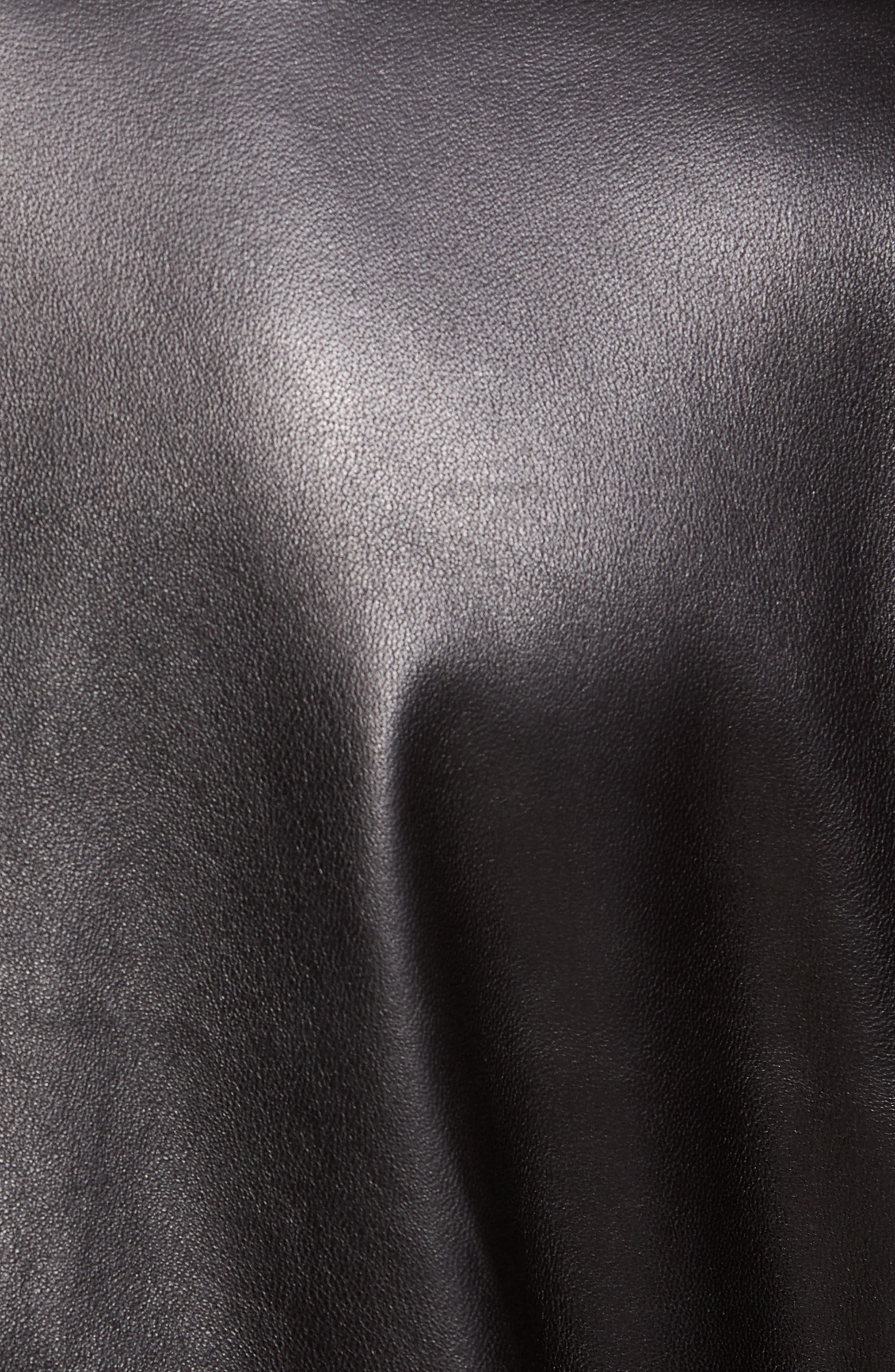 Nerous Leather jacket,                             Alternate thumbnail 6, color,