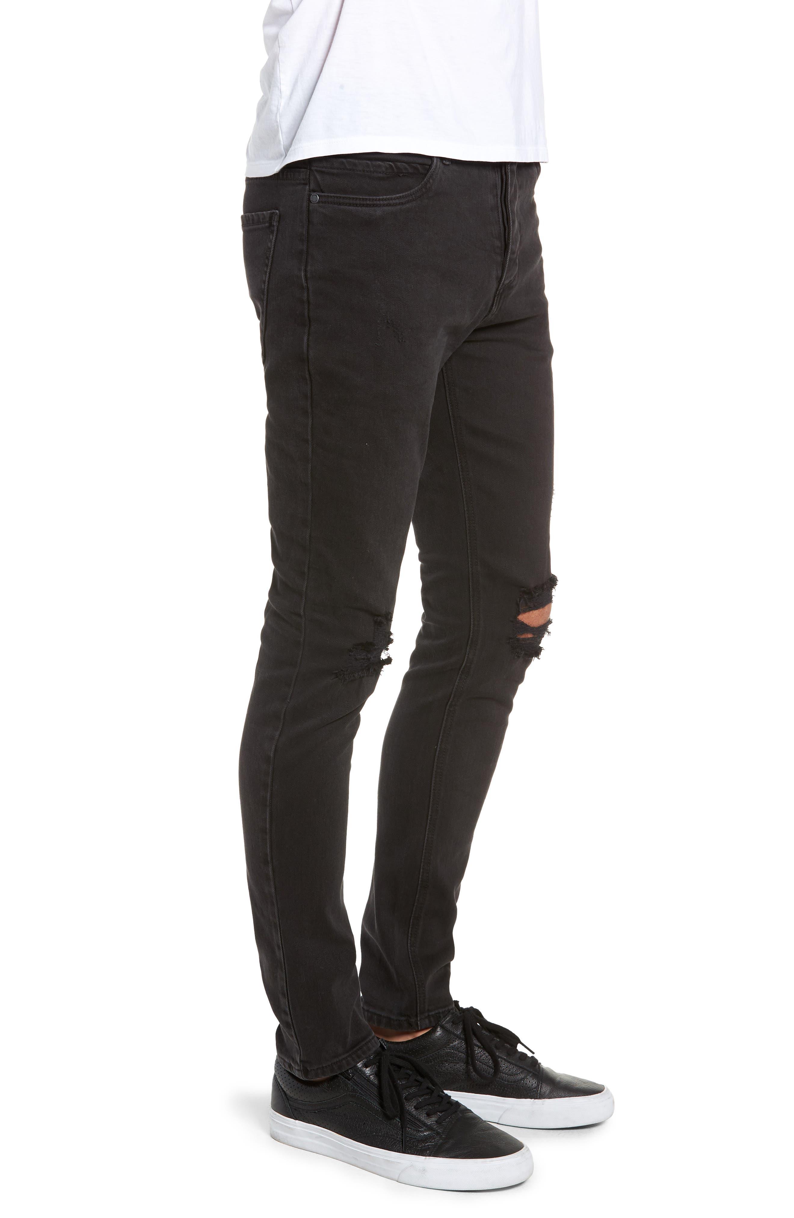 Joe Blow Slim Fit Jeans,                             Alternate thumbnail 3, color,                             BUSTED BLACK
