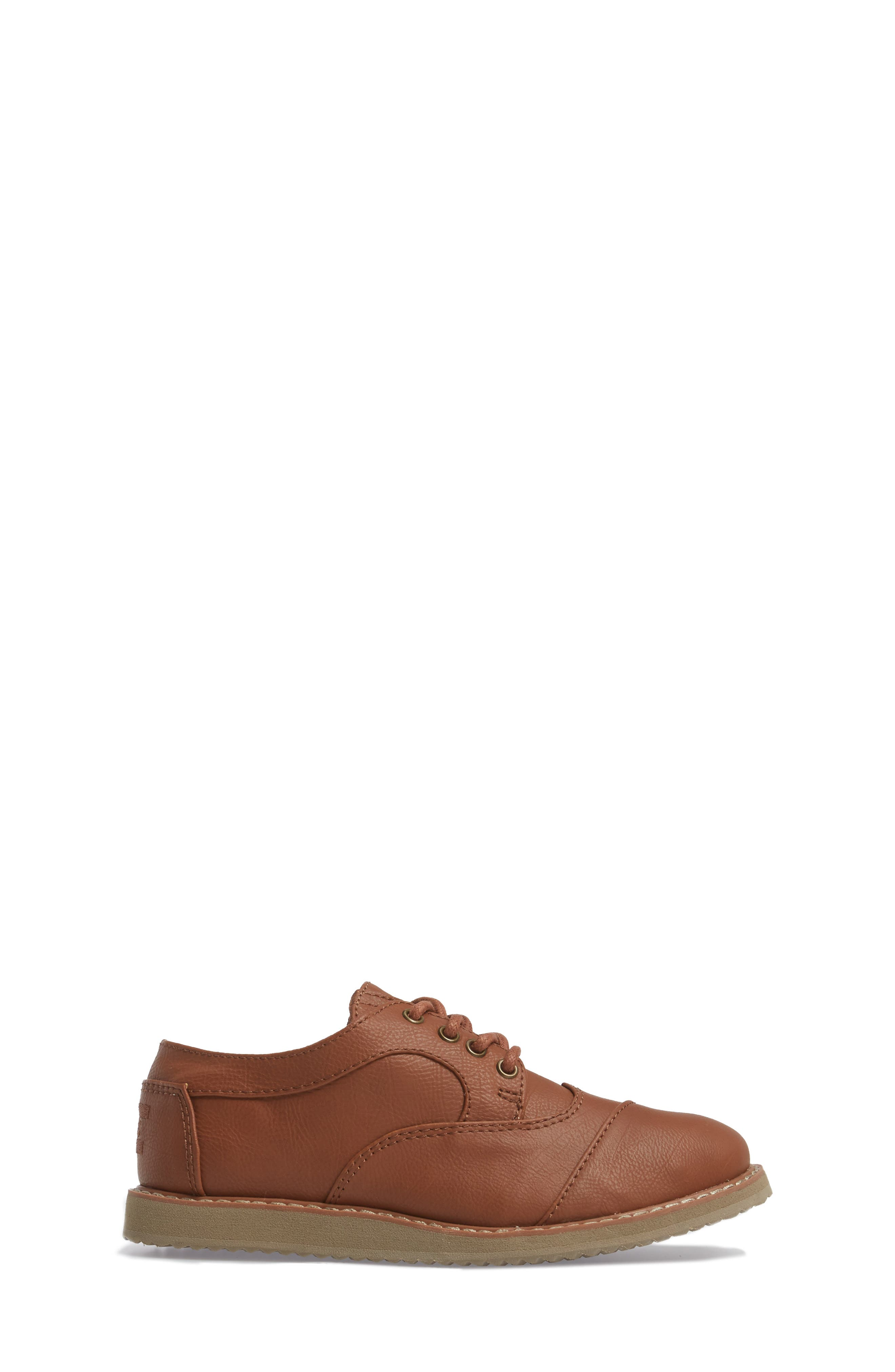 Brogue Cap Toe Wingtip Oxford,                             Alternate thumbnail 3, color,                             TOFFEE