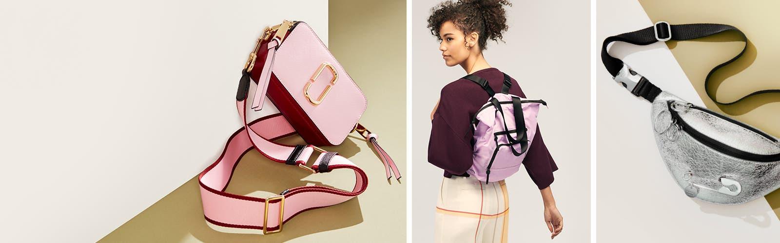 Sporty handbags.