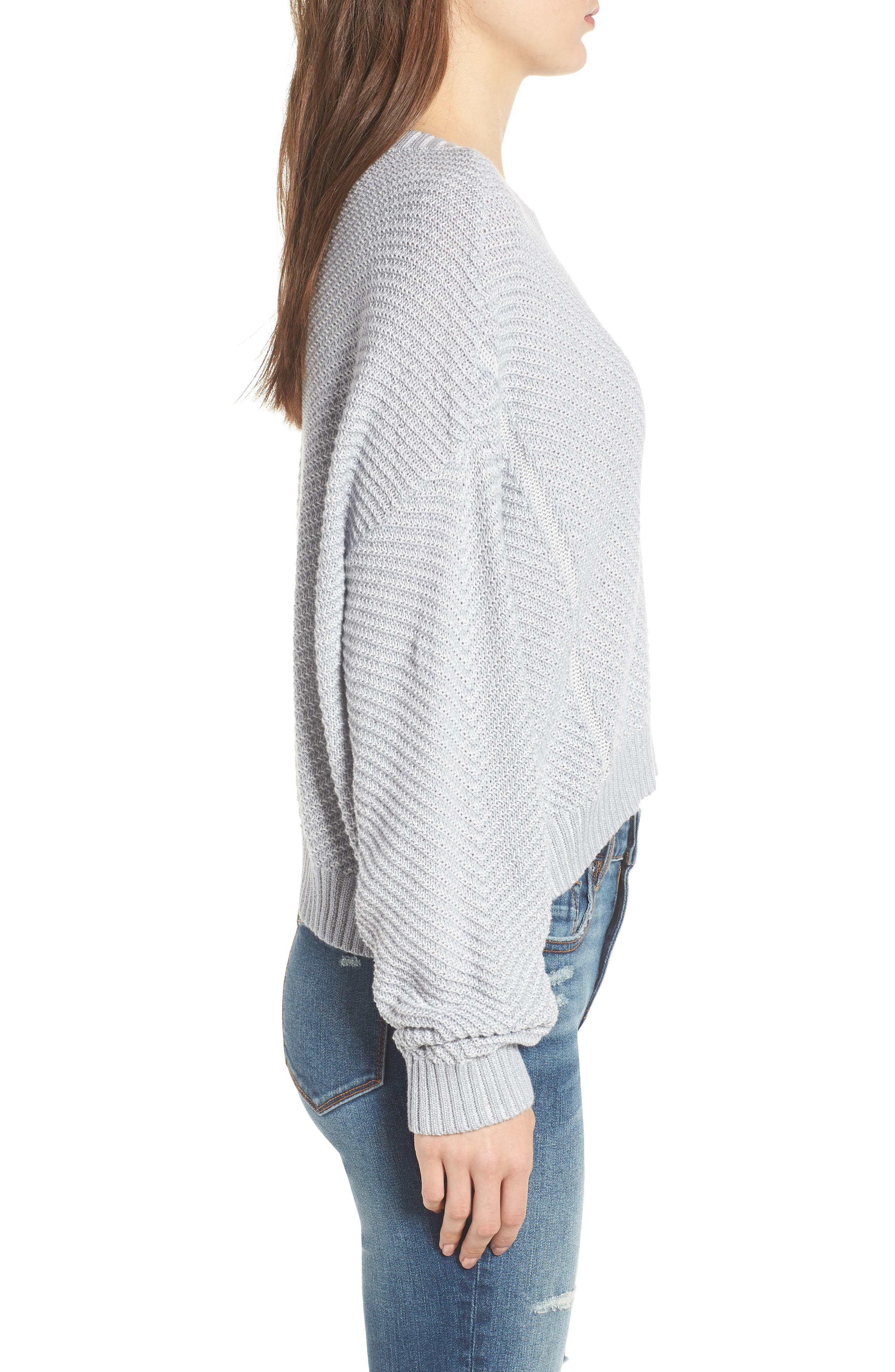 Plaited Drop Shoulder Sweater,                             Alternate thumbnail 5, color,